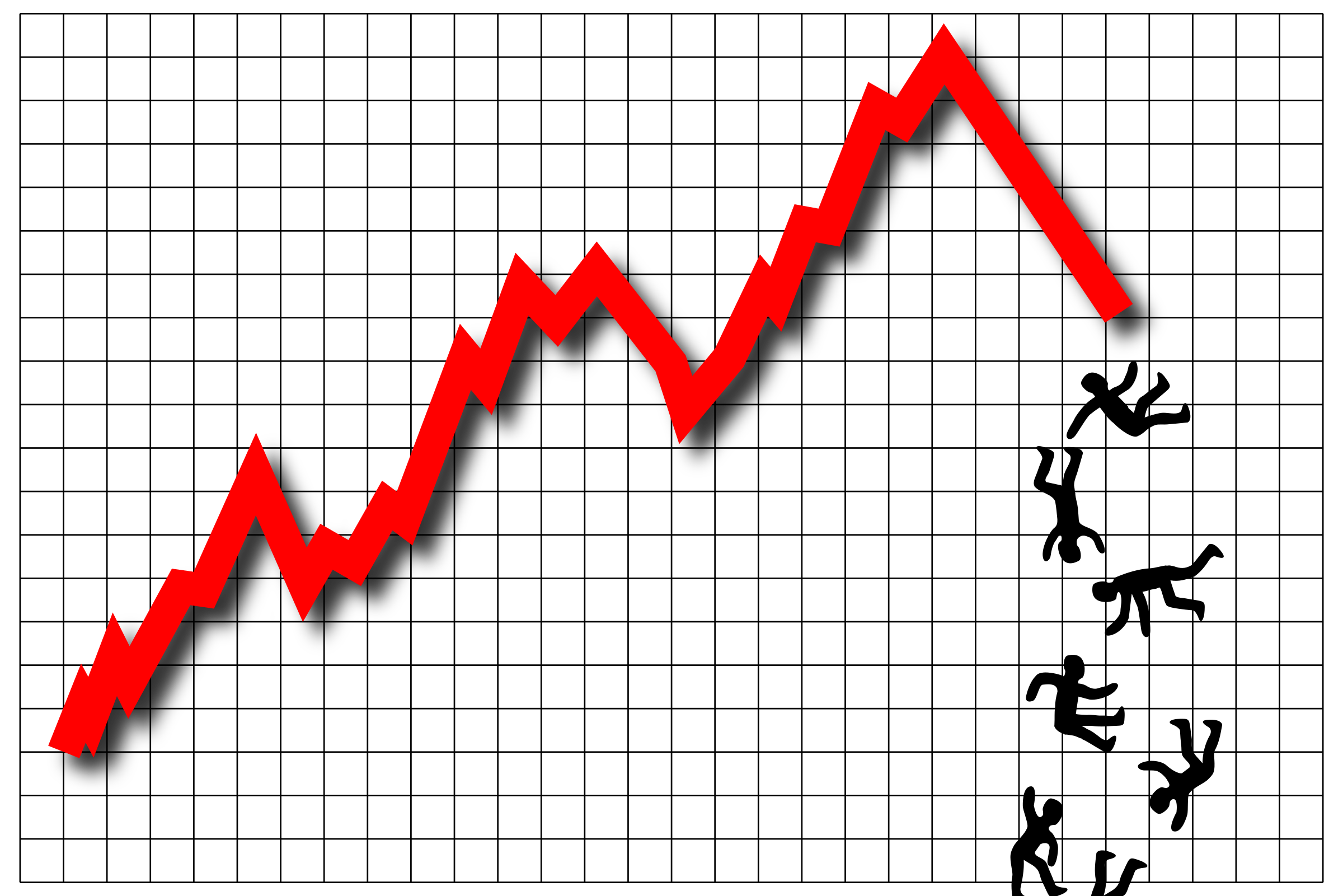 Clipart - Profit Graph People (Stock Market)
