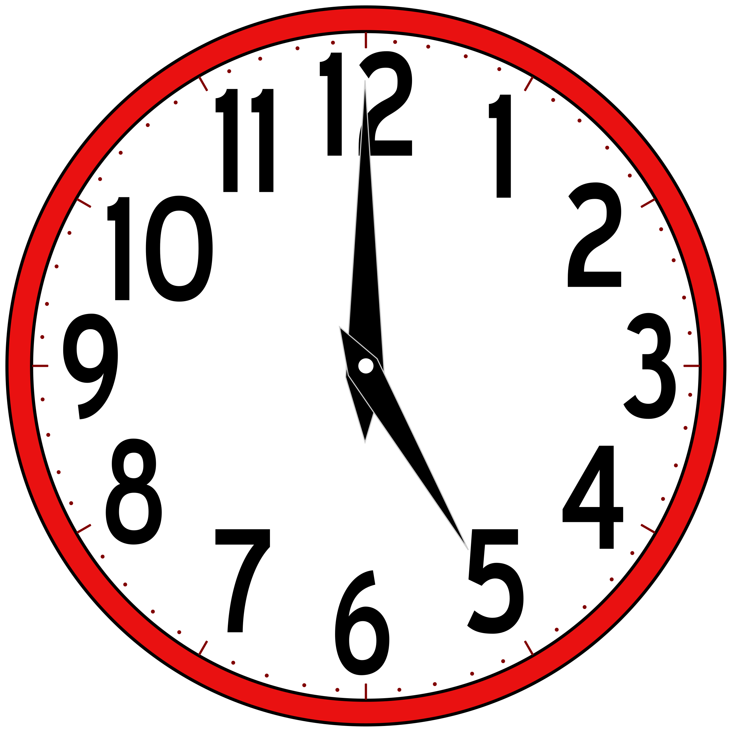 clipart scripted analog clock rh openclipart org free clipart of a clock clipart of clock black and white