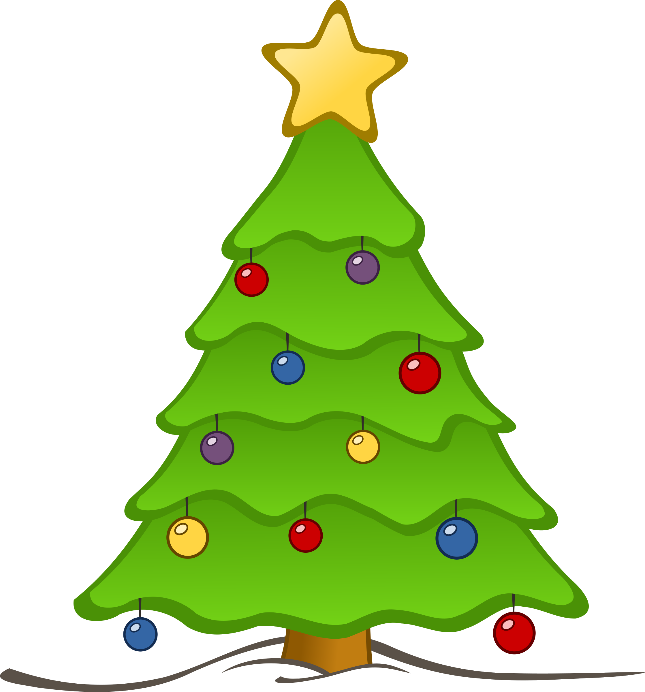 Clipart - Drawing Christmas Tree