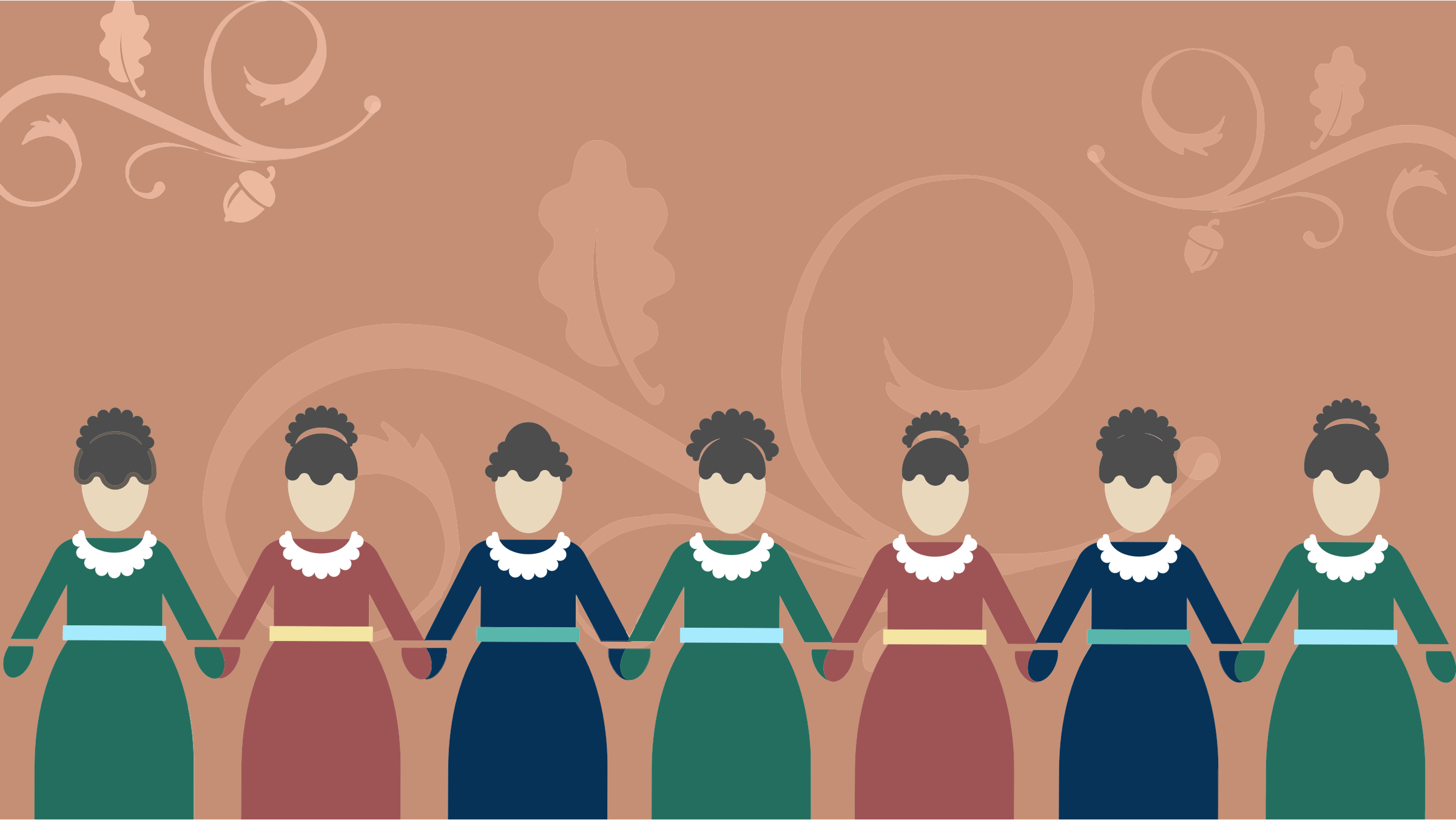 Women Holding Hands Background by GDJ