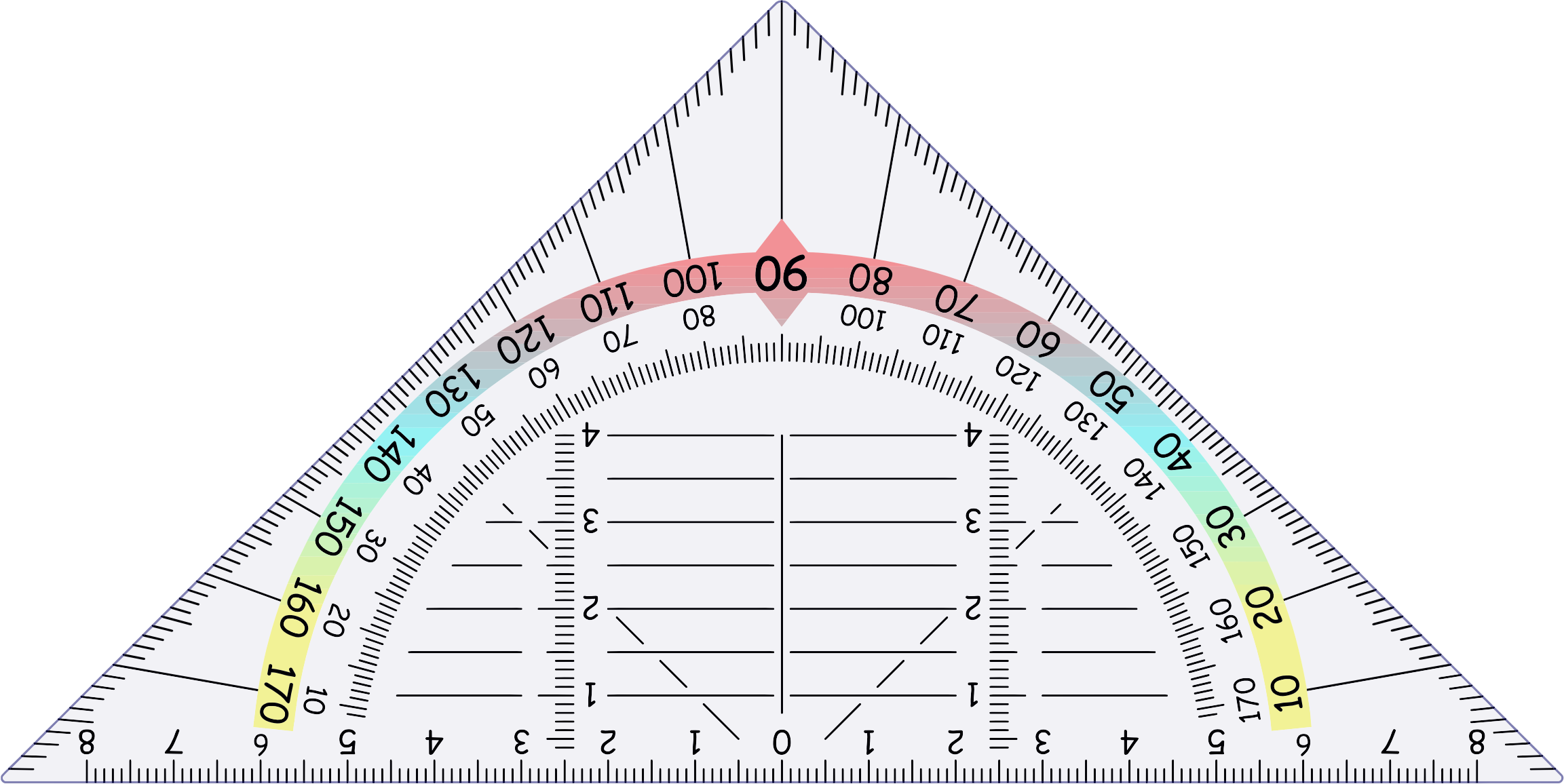 Clipart - Triangular Protractor