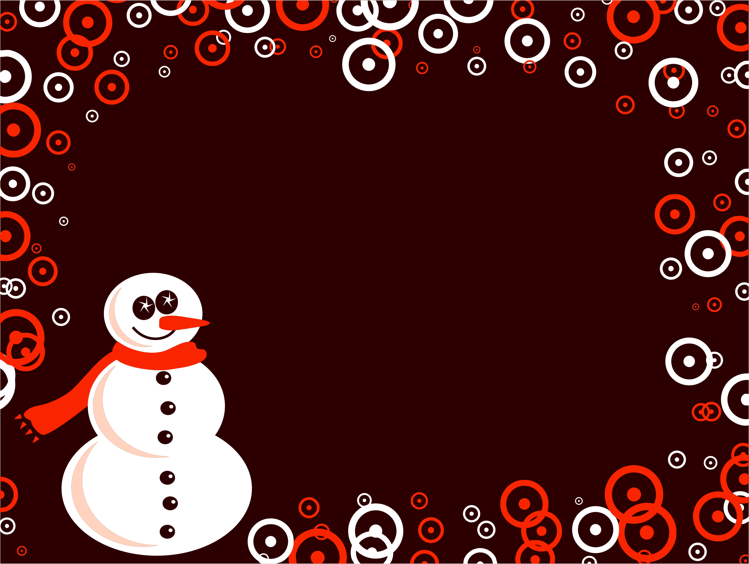 Snowman Background by GDJ