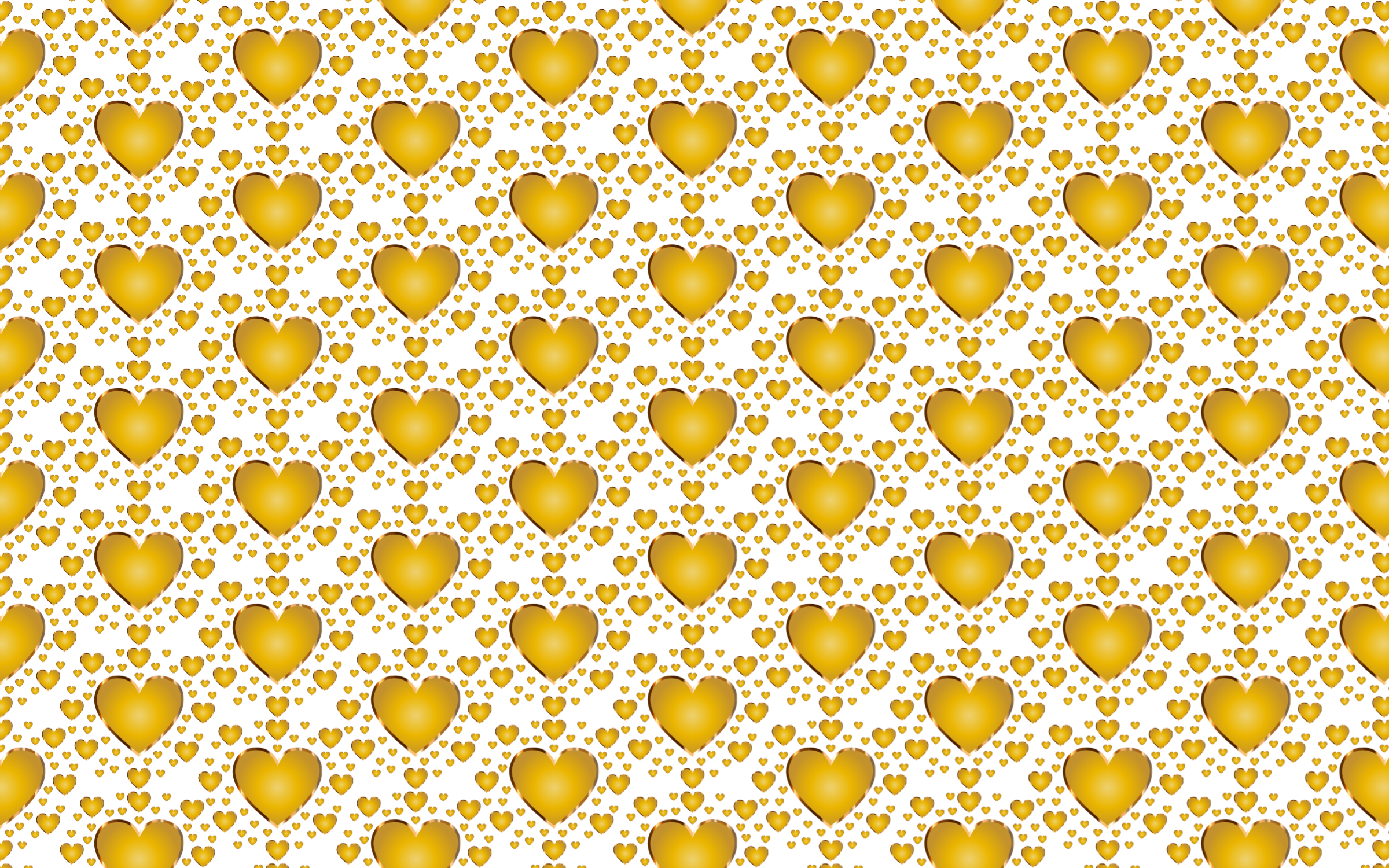 Seamless Gold Heart Pattern by GDJ