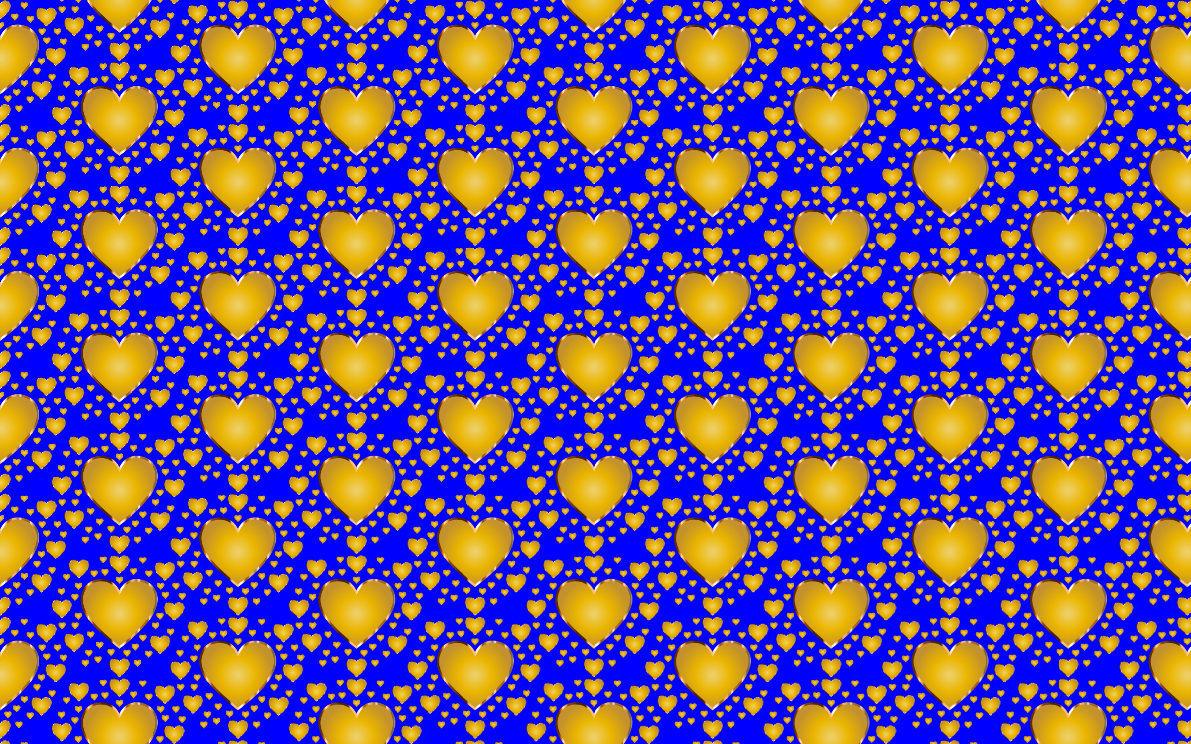 Seamless Gold Heart Pattern 2 by GDJ