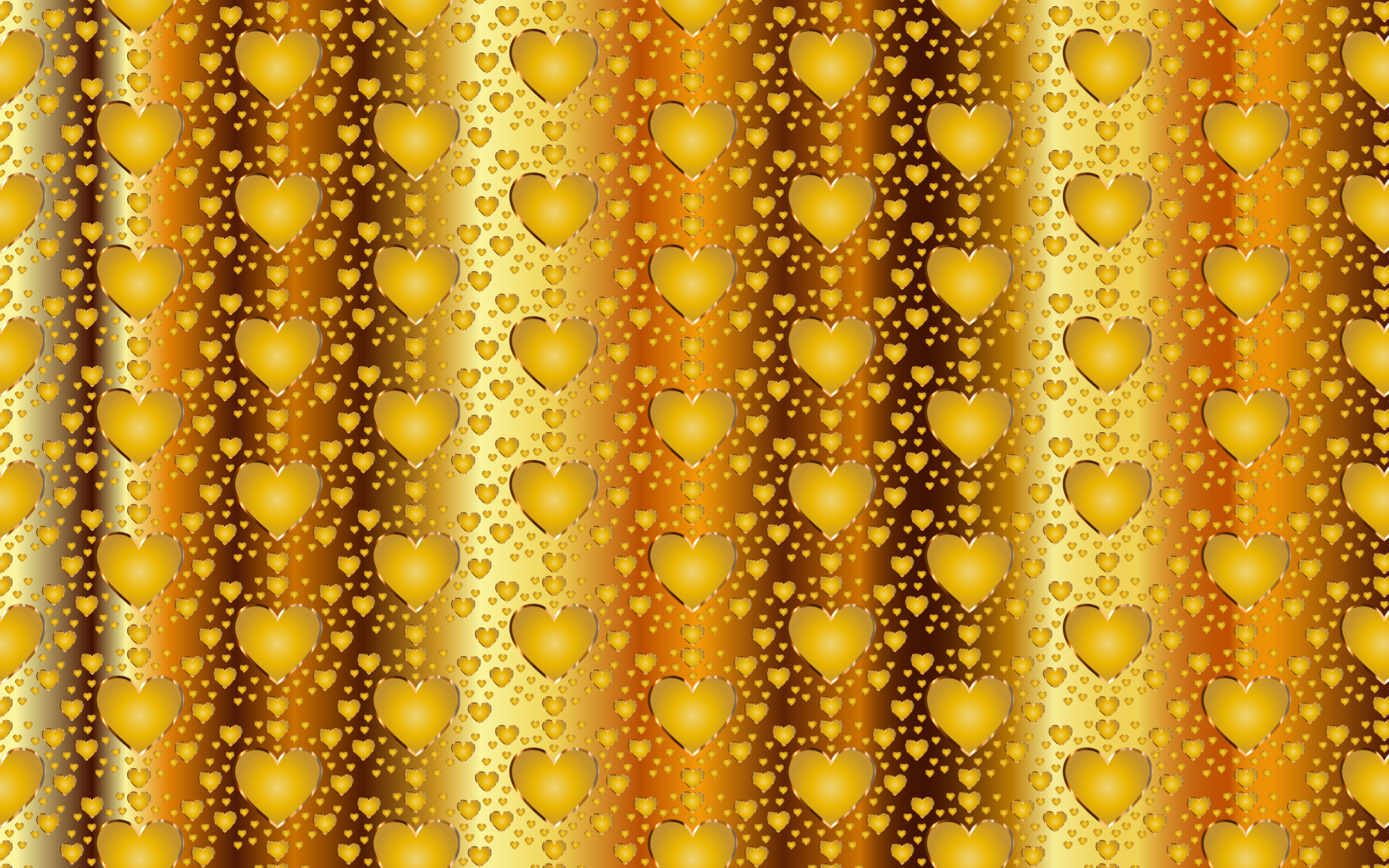 Seamless Gold Heart Pattern 3 by GDJ