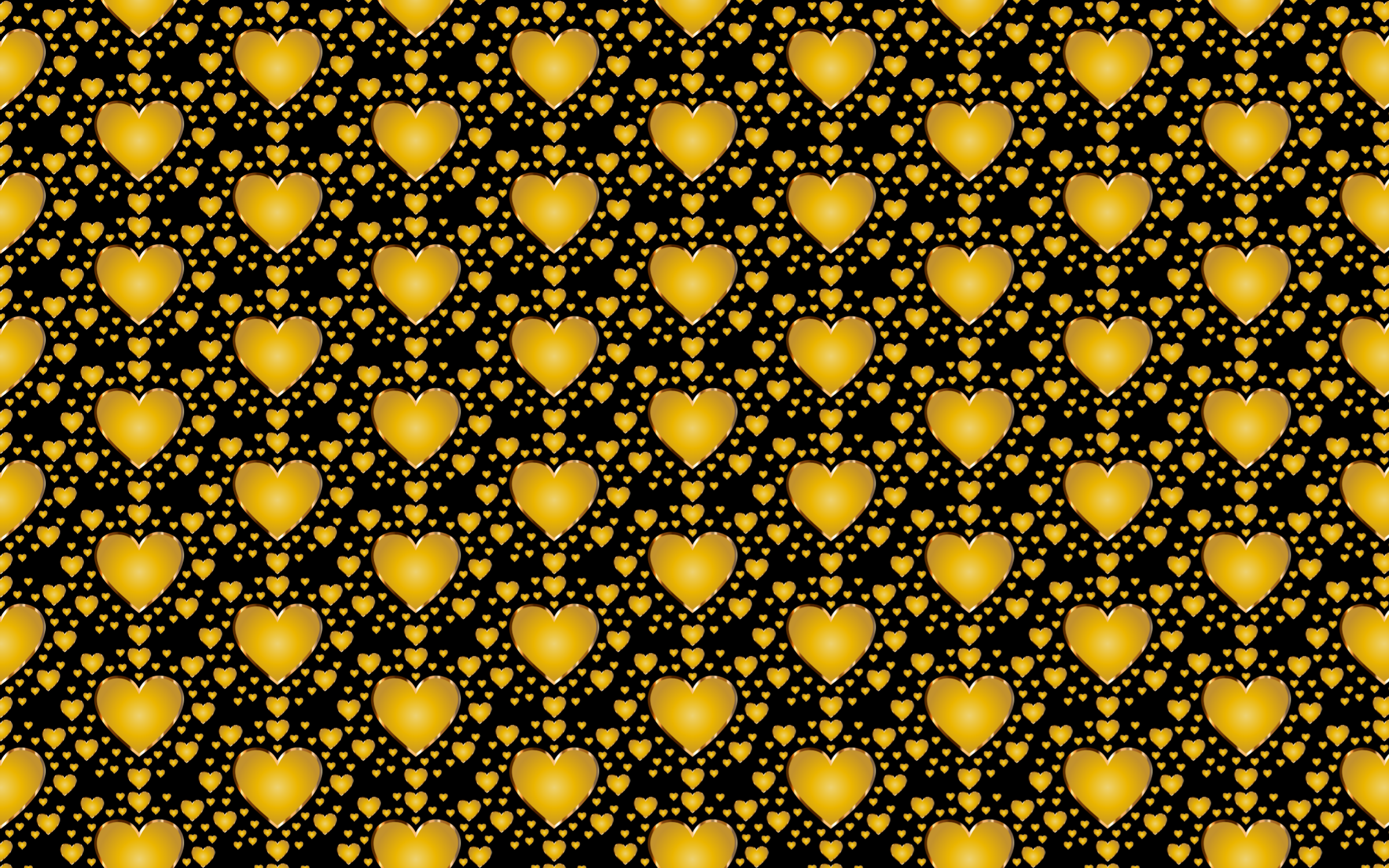 Seamless Gold Heart Pattern 4 by GDJ