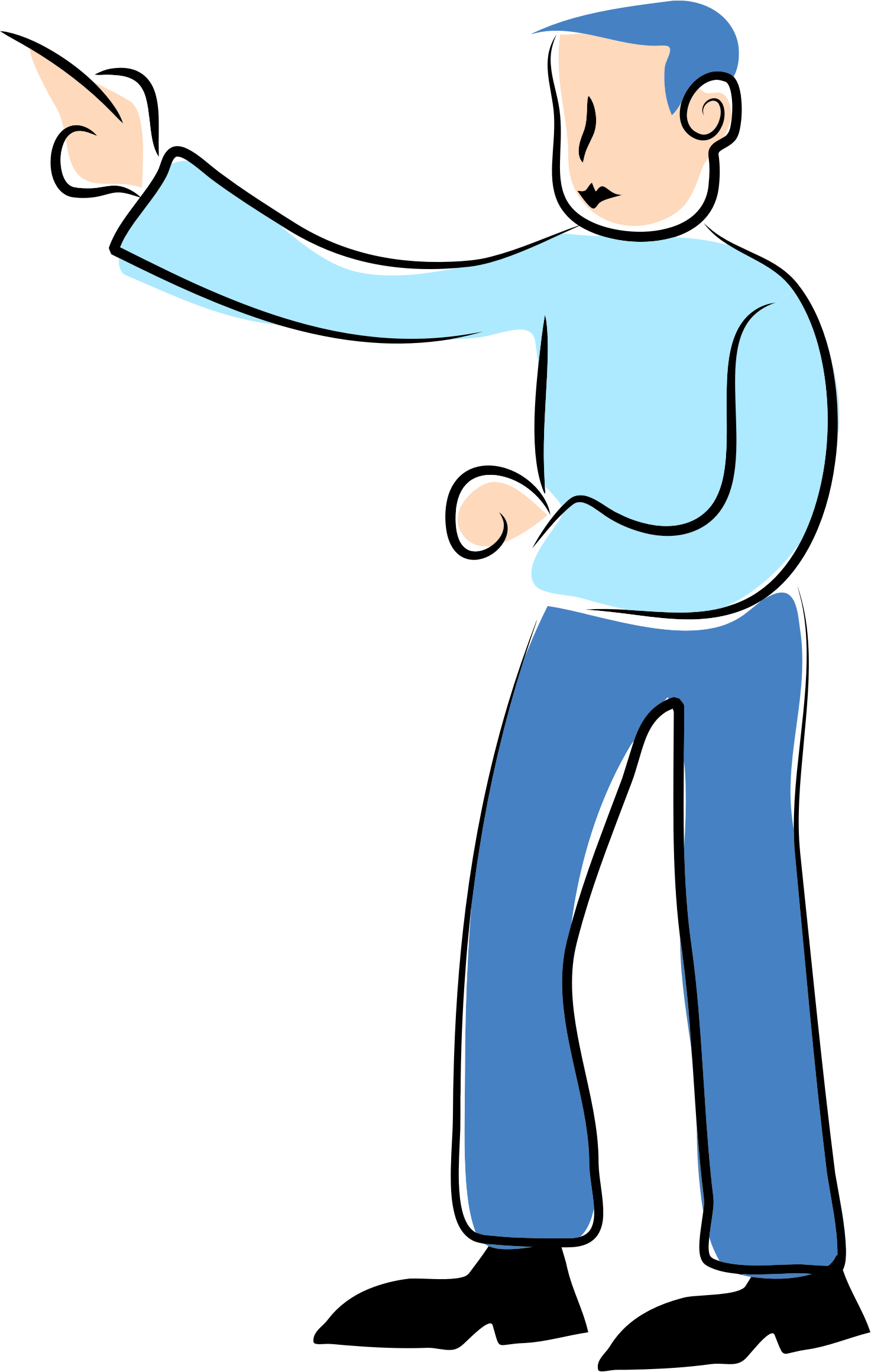 clipart man pointing finger - photo #19