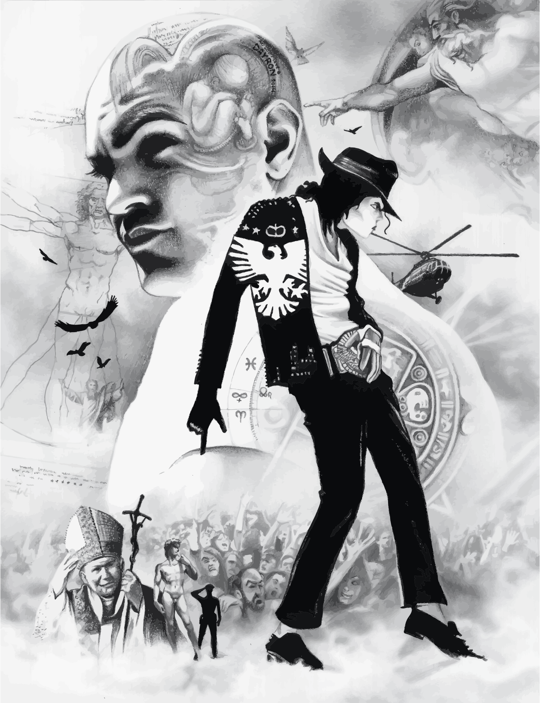 Michael Jackson Pencil Sketch Montage by GDJ