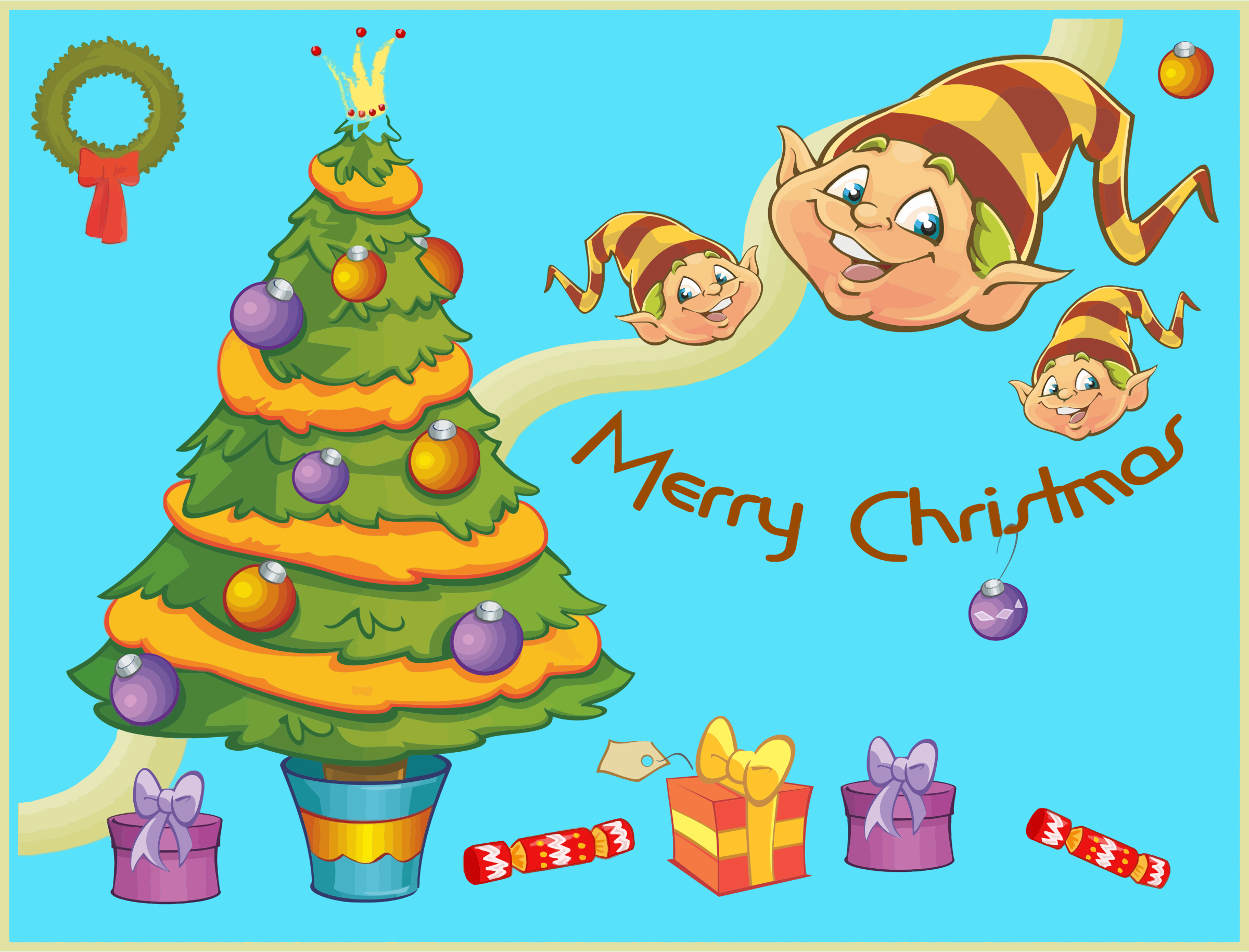 Merry Christmas Background by GDJ
