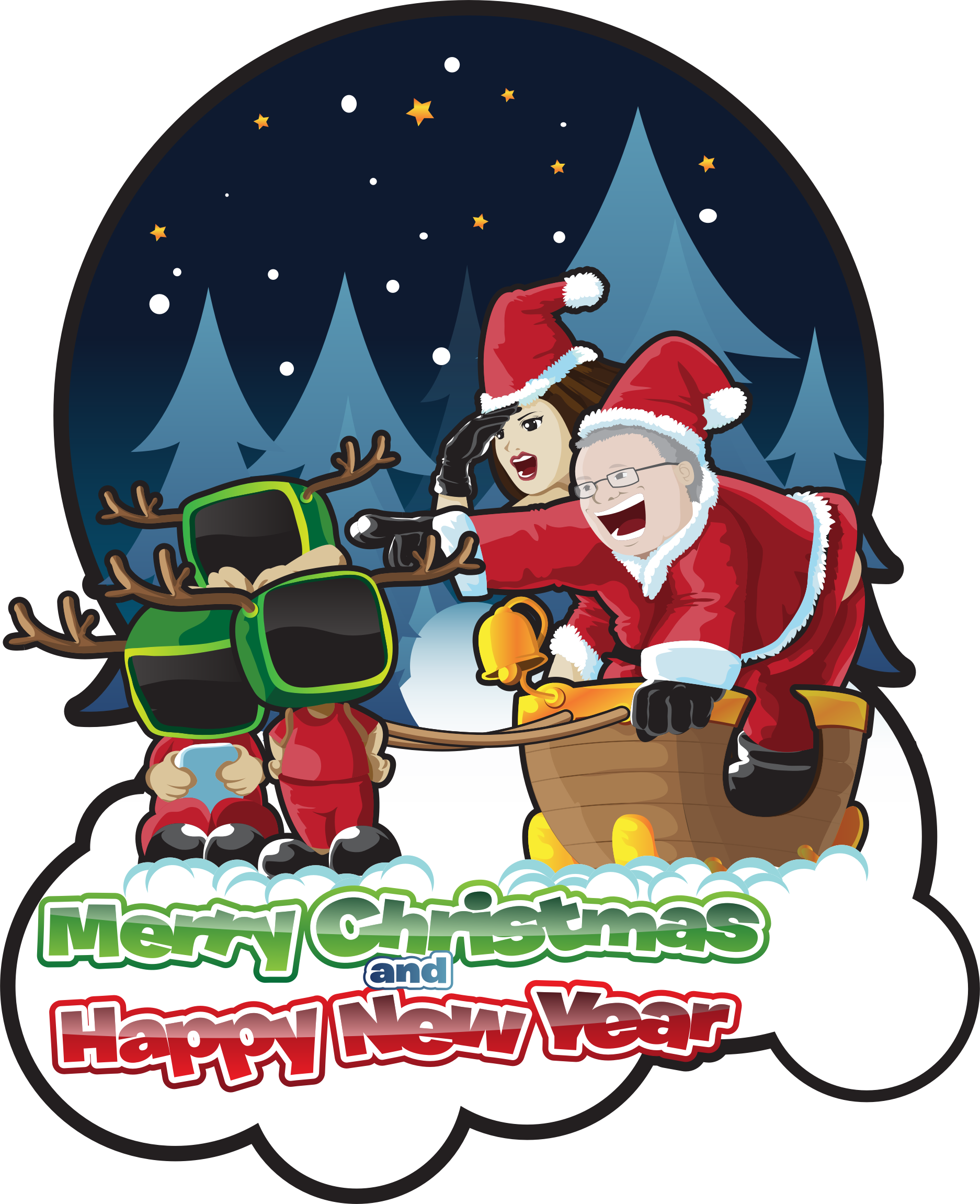 Merry Christmas And Happy New Year by GDJ