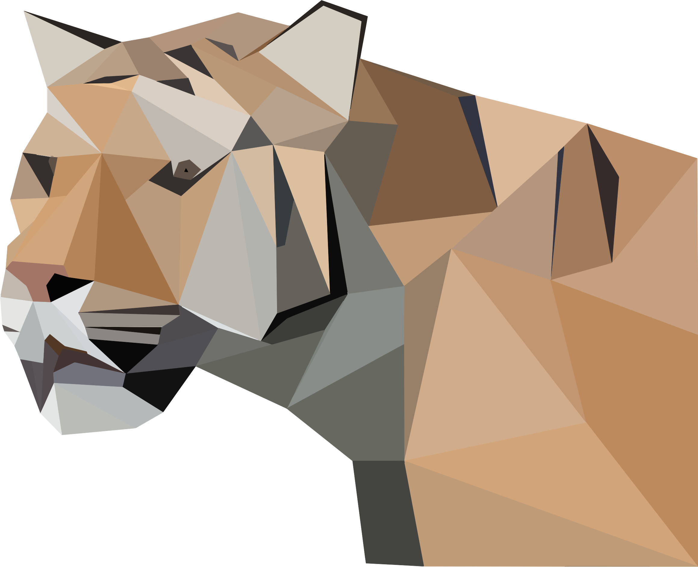 Low Poly Tiger by GDJ