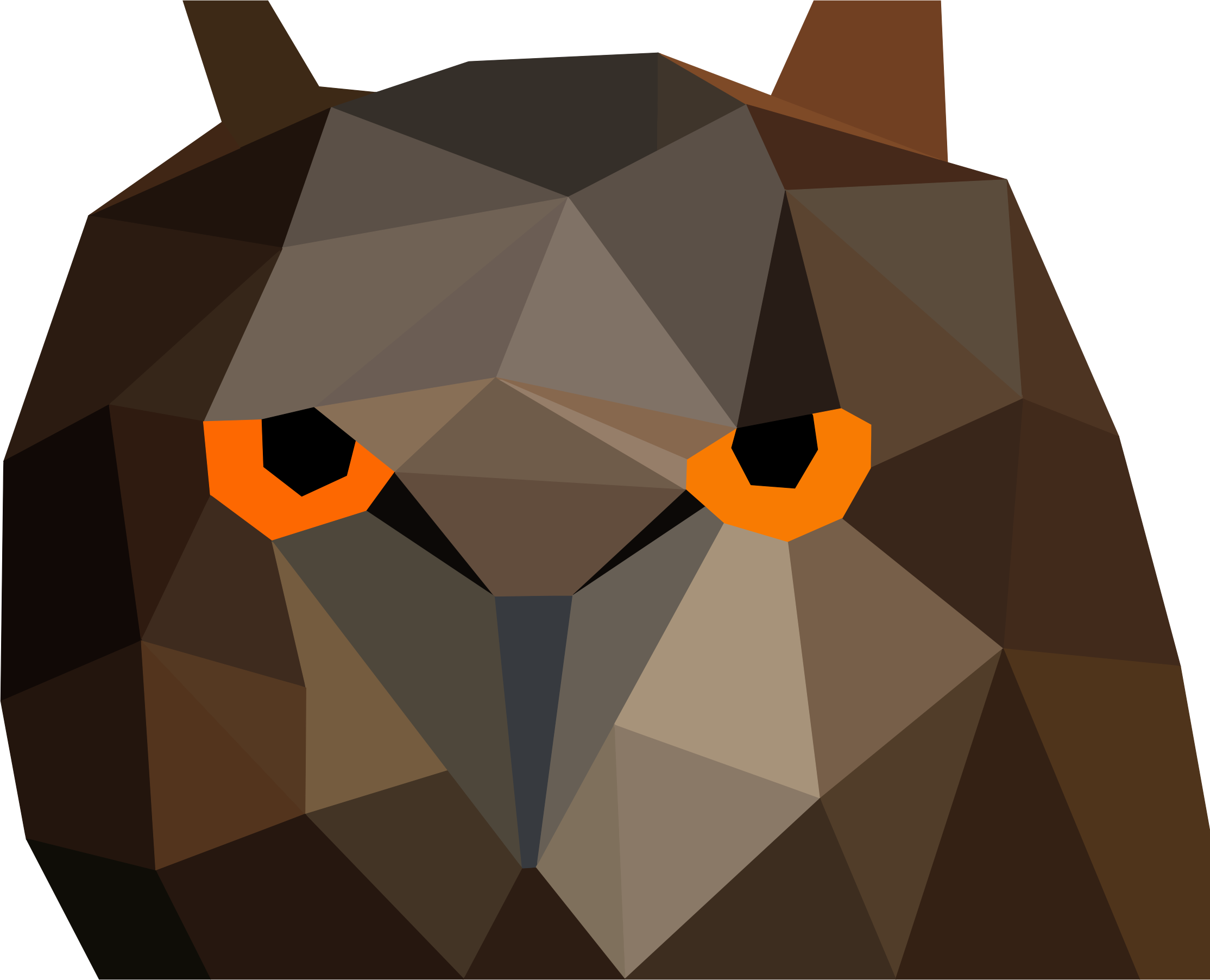 Low Poly Owl Head by GDJ