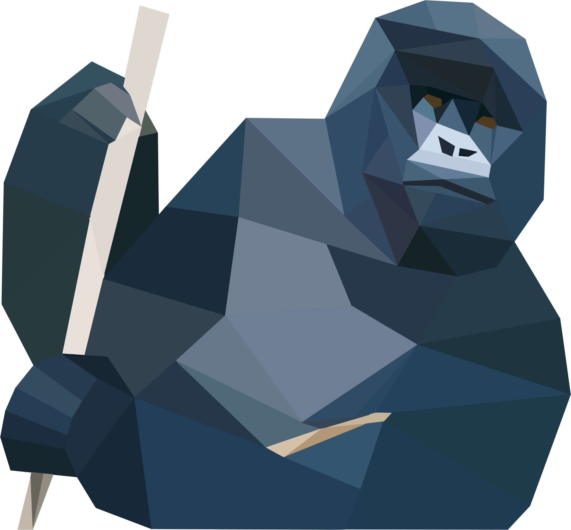 Low Poly Gorilla by GDJ