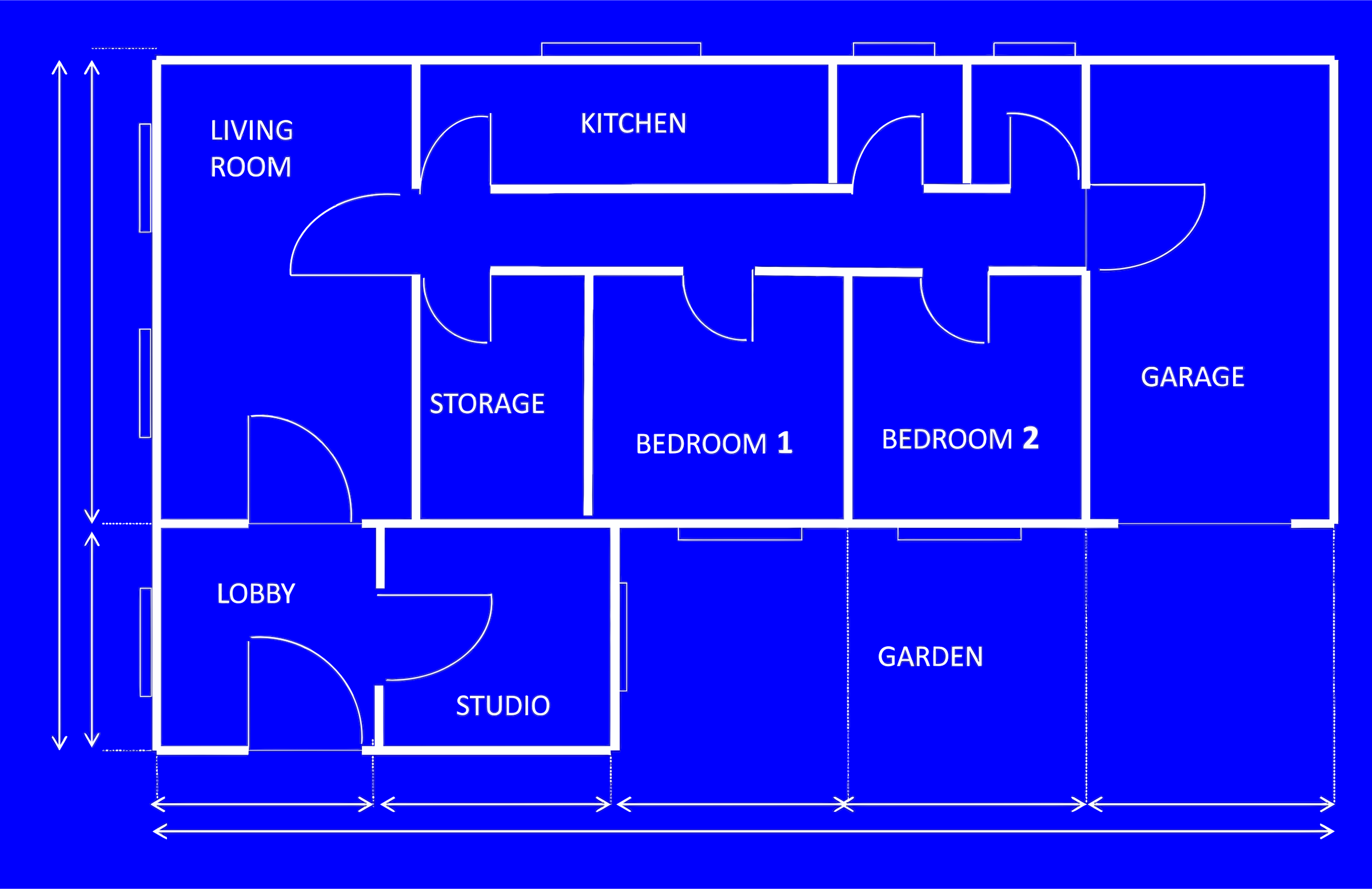 Clipart House Blueprint