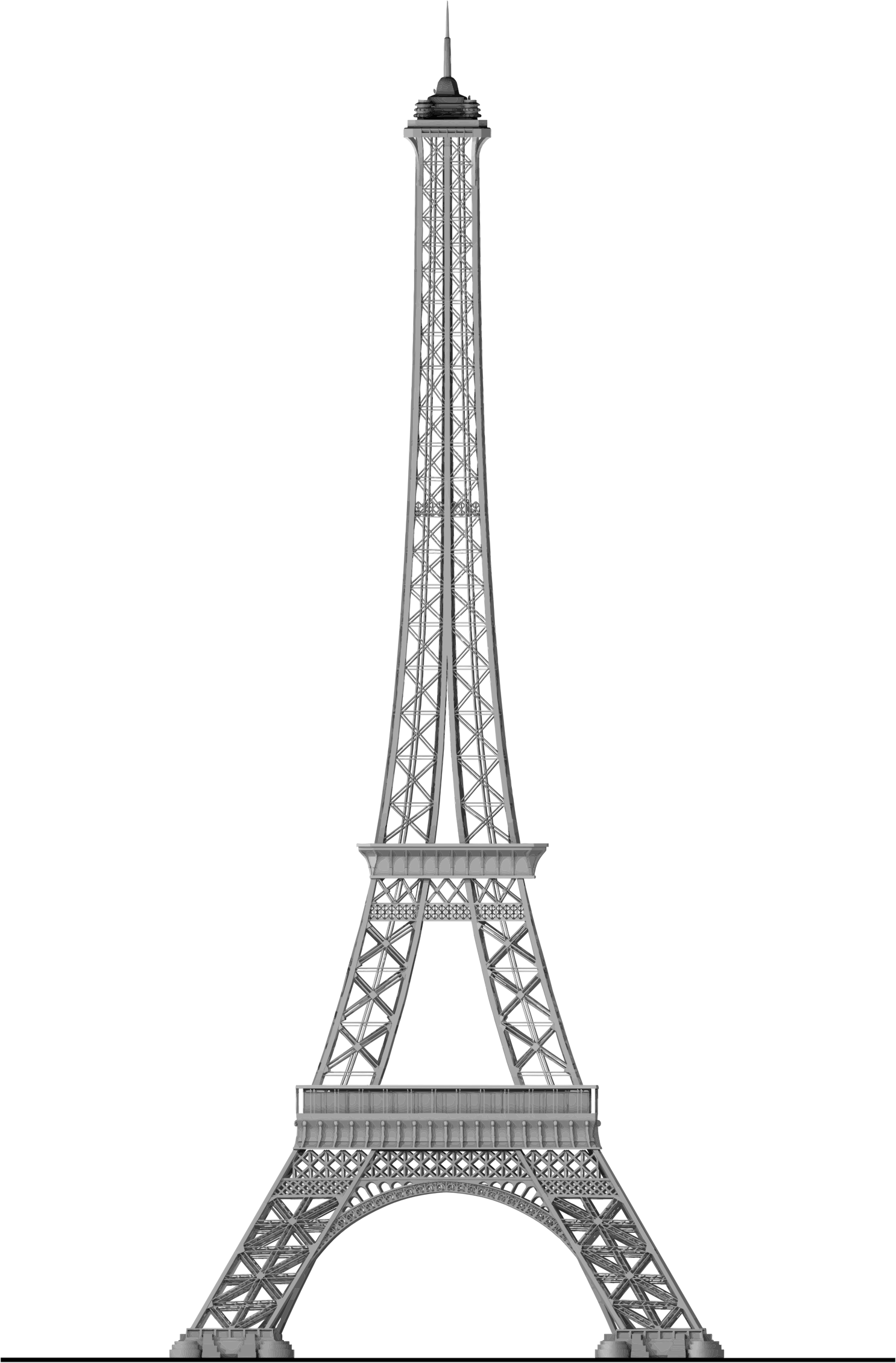 Detailed Eiffel Tower Trace 2 by GDJ