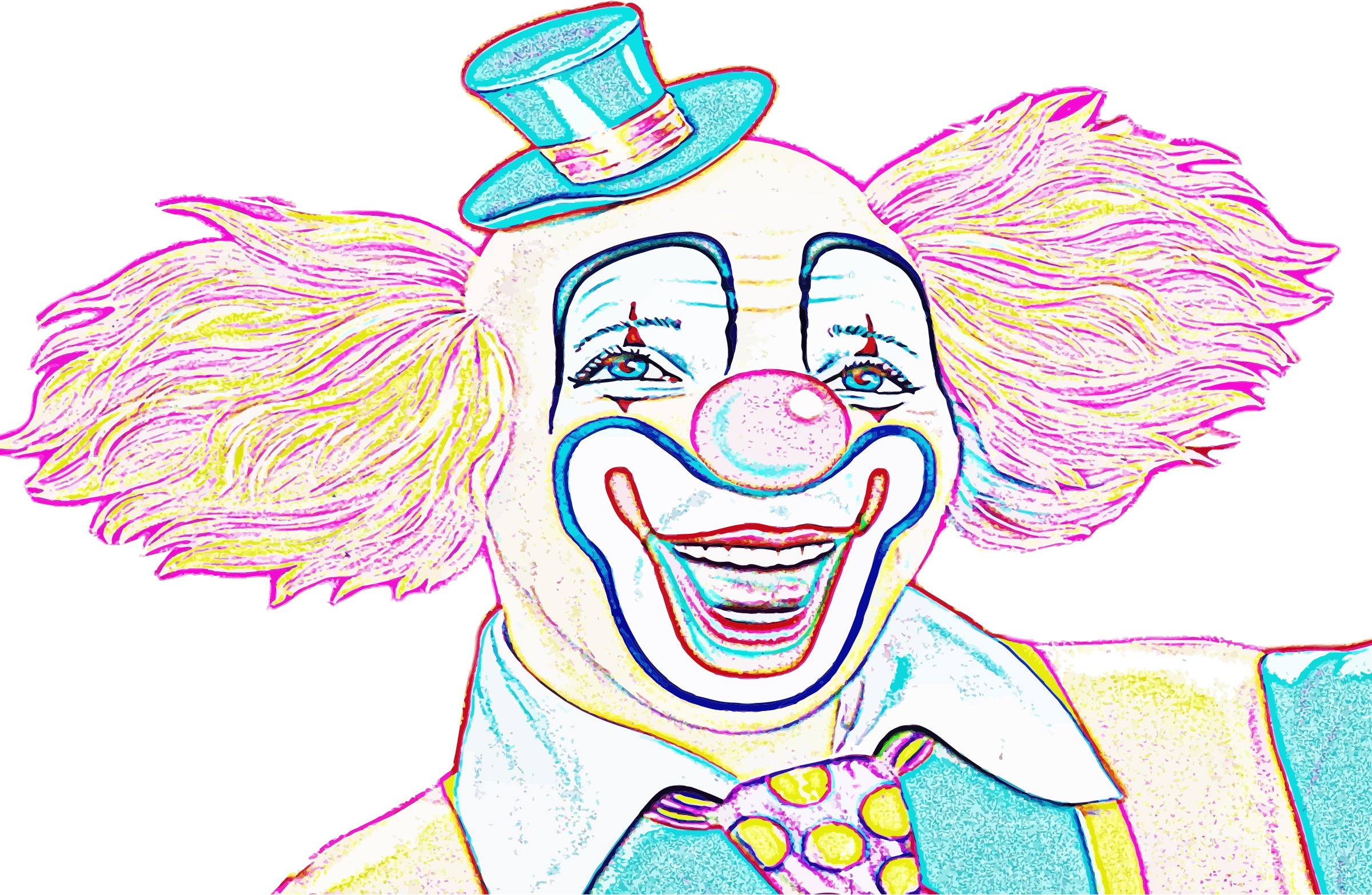 Colorful Clown Sketch by GDJ