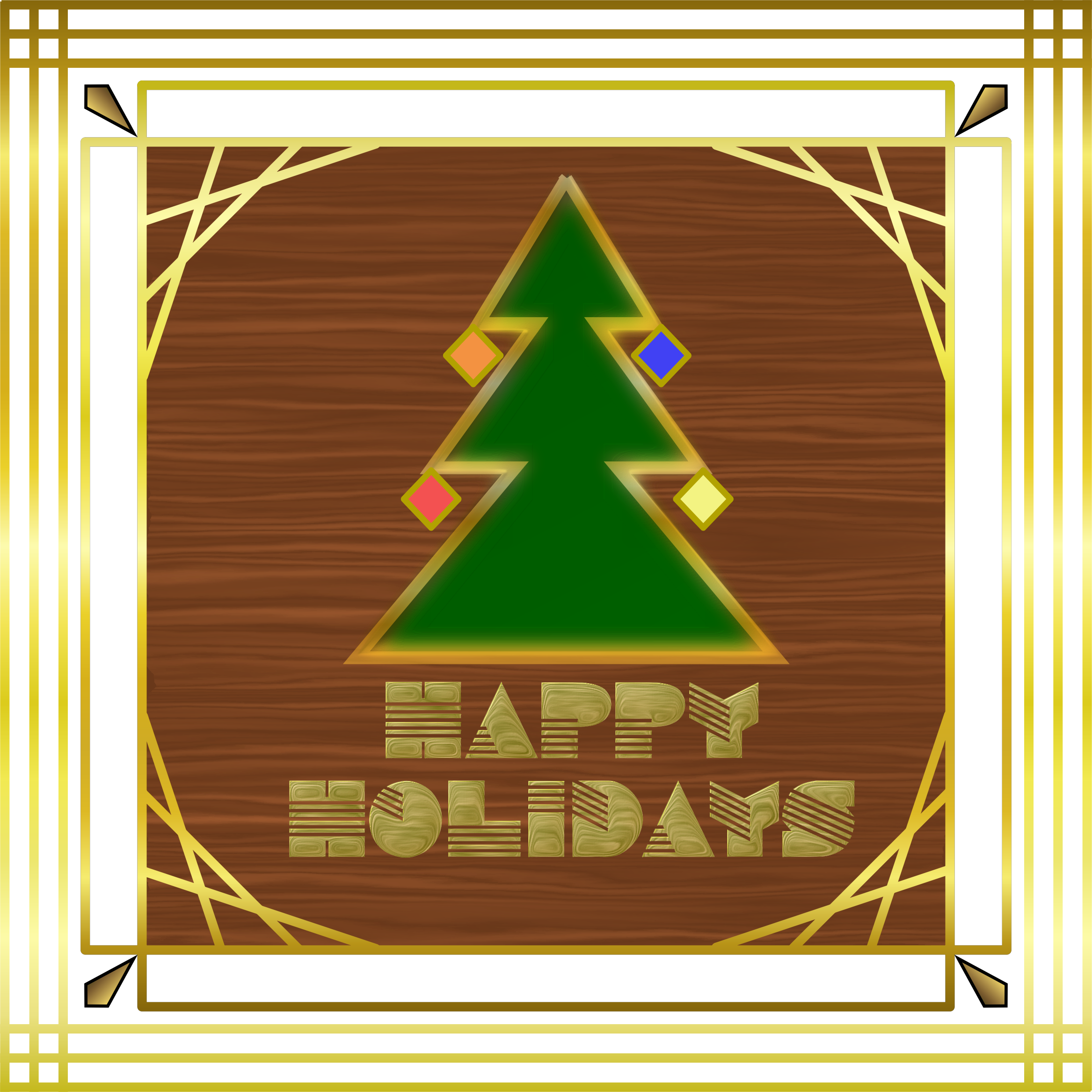 Art Deco Holiday Card by Arvin61r58