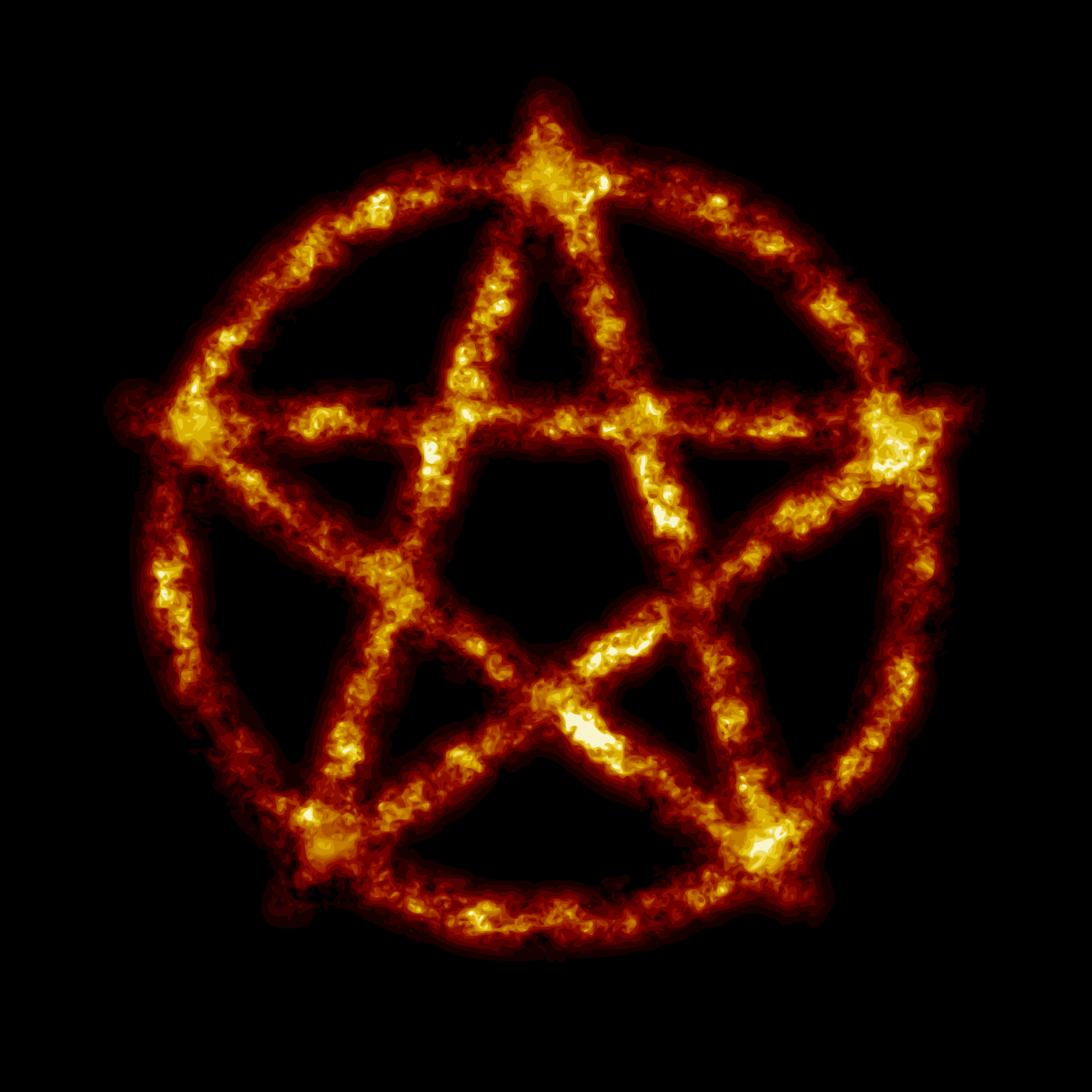 Burning pentagram (reduced file size) by Firkin