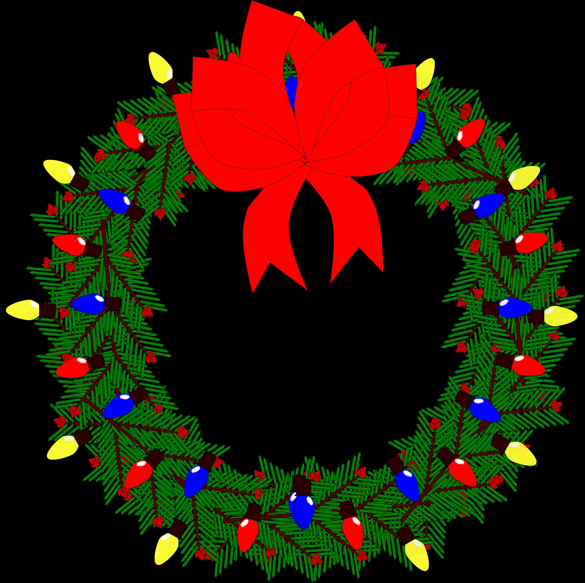 clipart christmas wreath free - photo #46