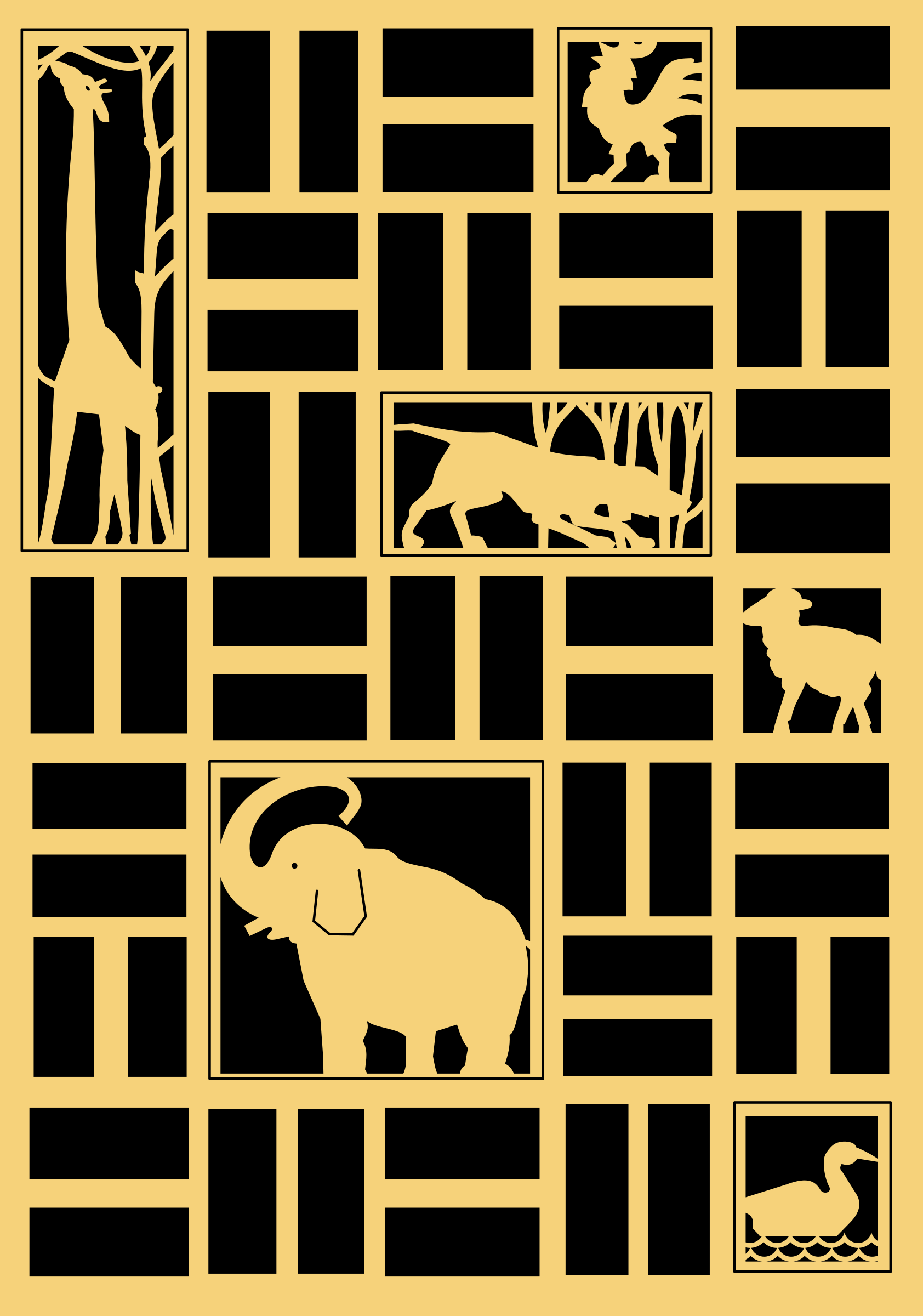 Animals panel by rones