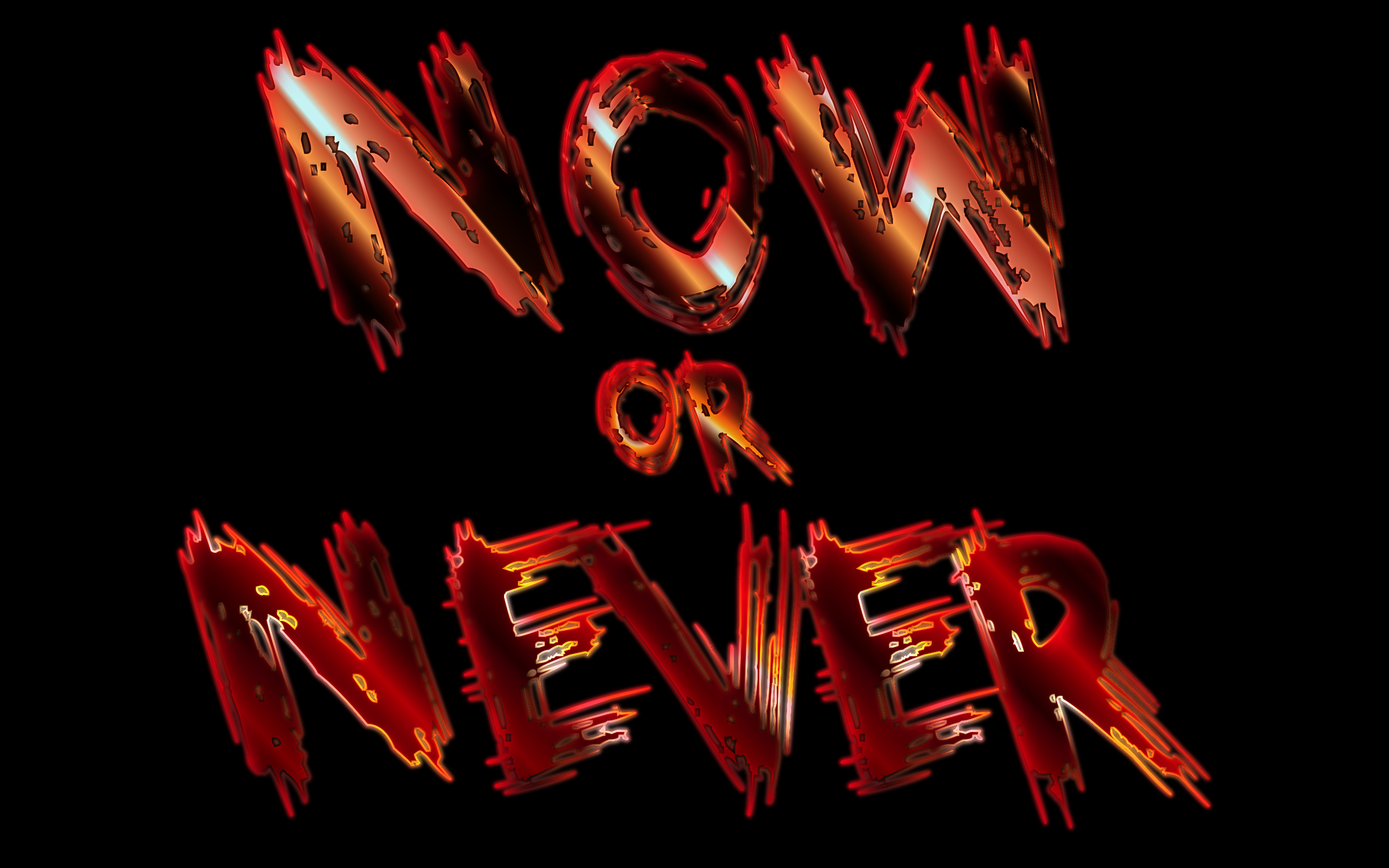 Clipart - Now Or Never Enhanced