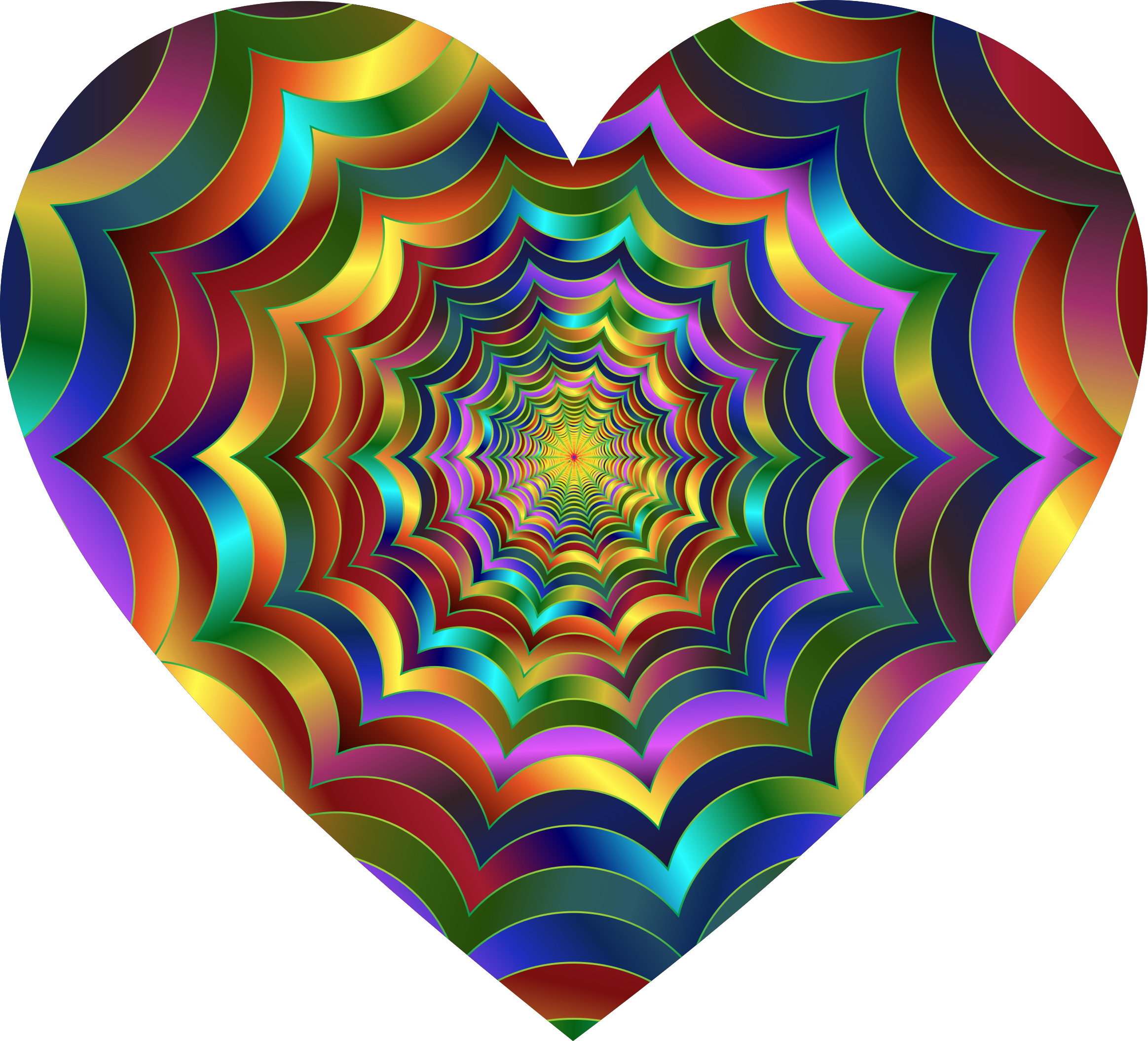 Prismatic Waves Heart by GDJ