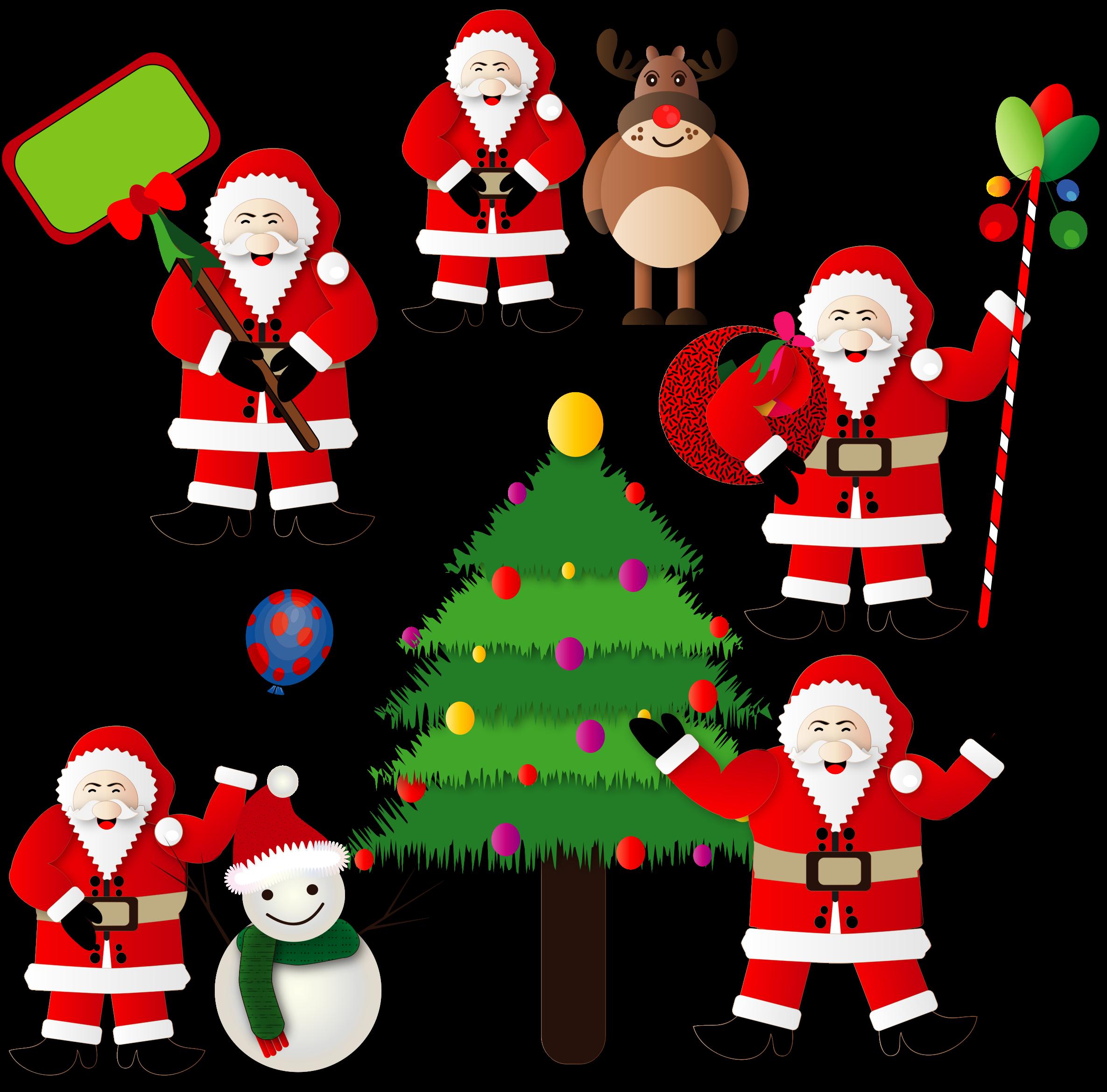 Clipart christmas santas - Clipart weihnachten ...