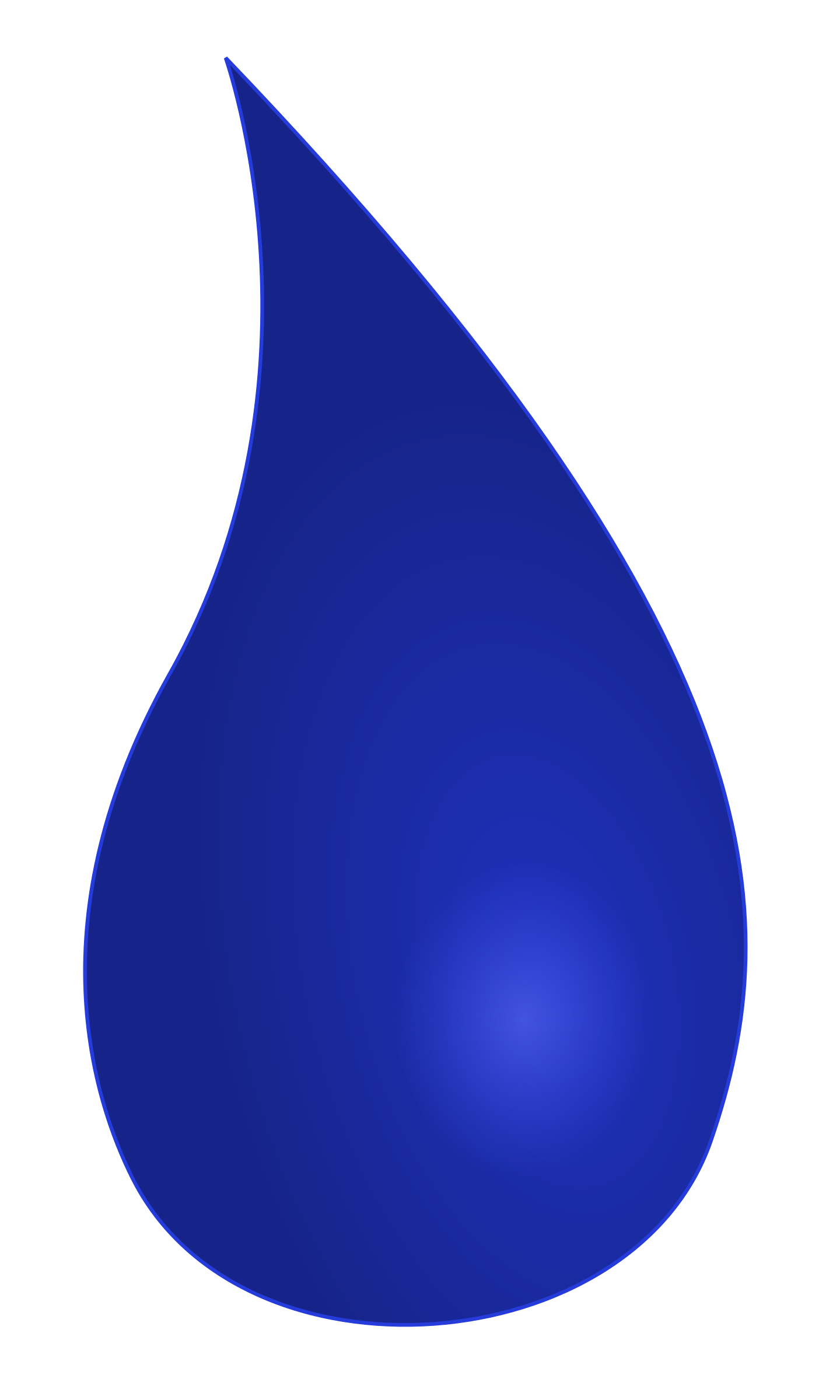 Blue blue waterdrop by JoyOfColors