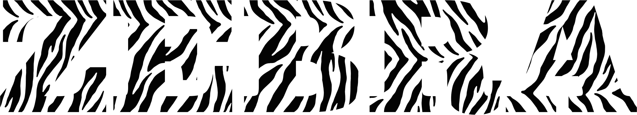 Zebra Typography by GDJ