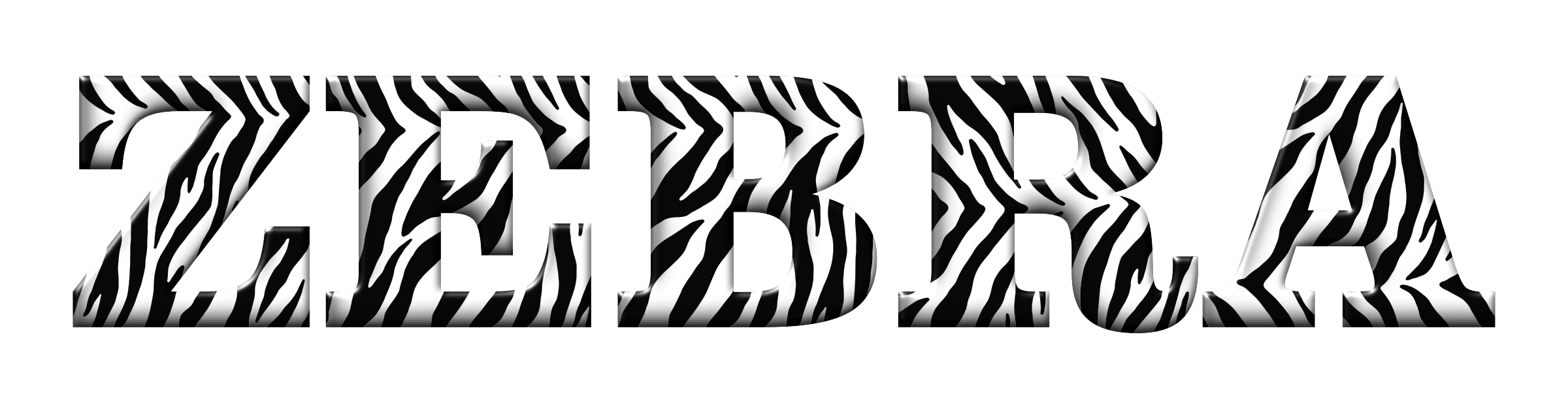 Zebra Typography Enhanced 2 by GDJ