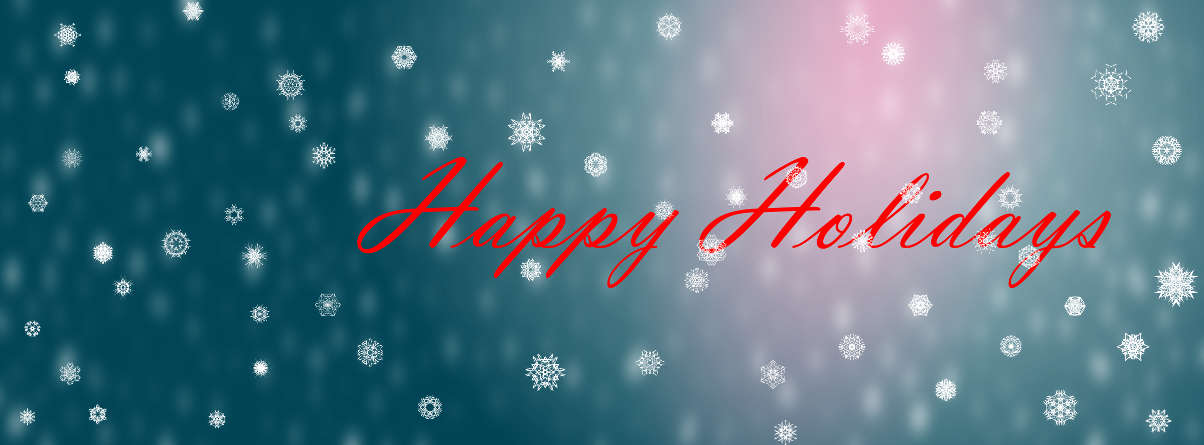 Clipart - Happy Holidays Facebook Cover