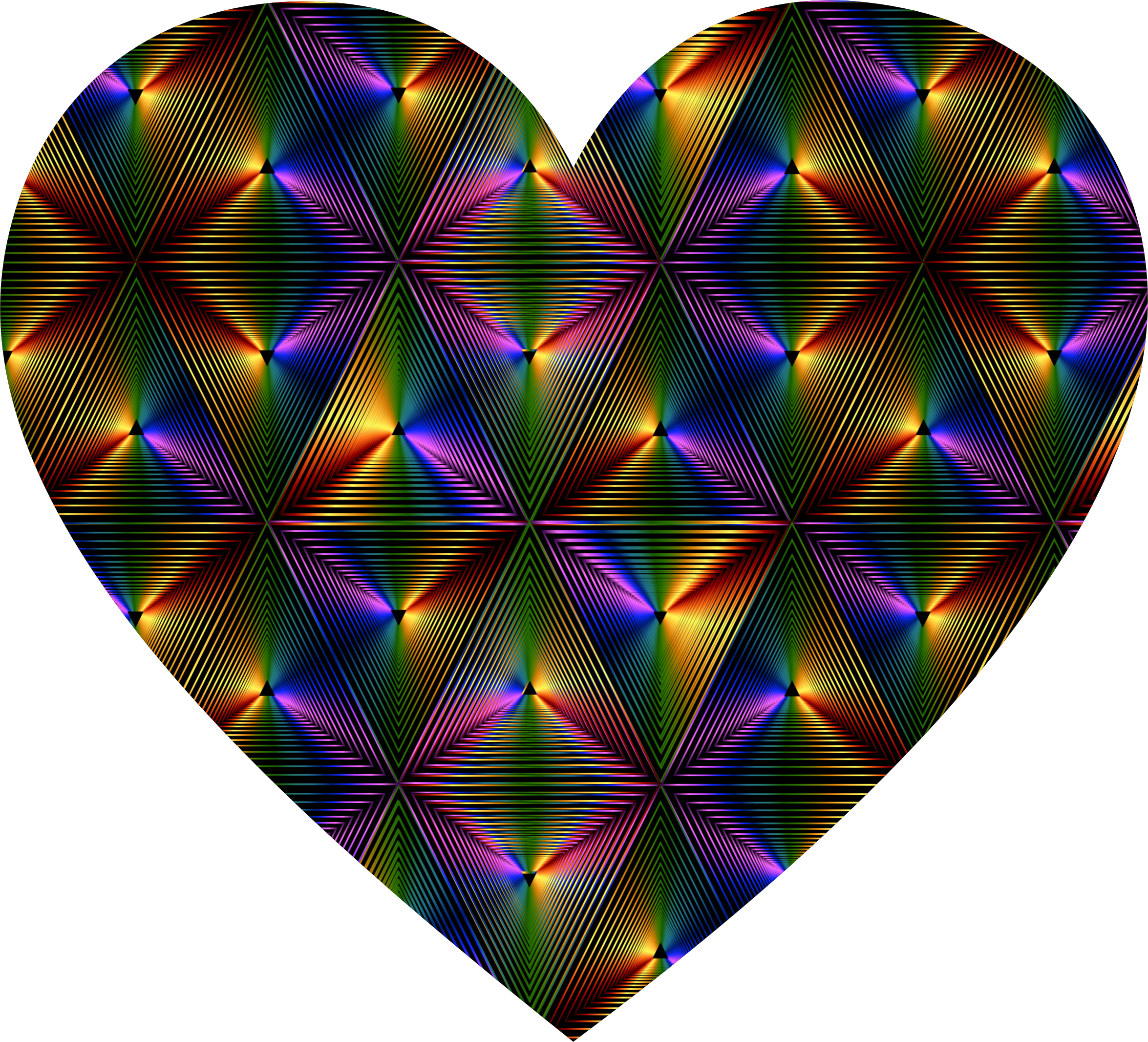 Prismatic Triangular Heart by GDJ