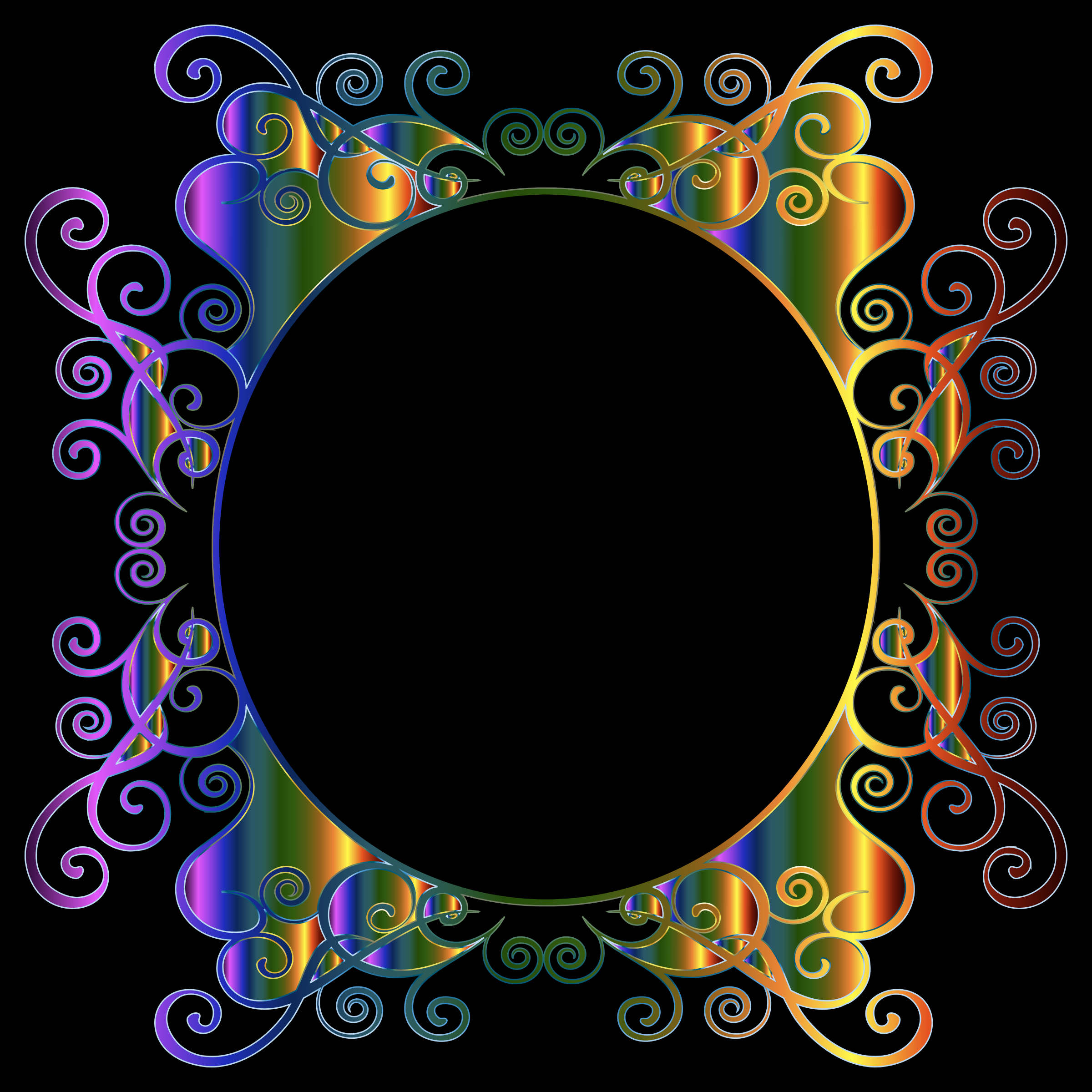 Prismatic Flourish Frame by GDJ