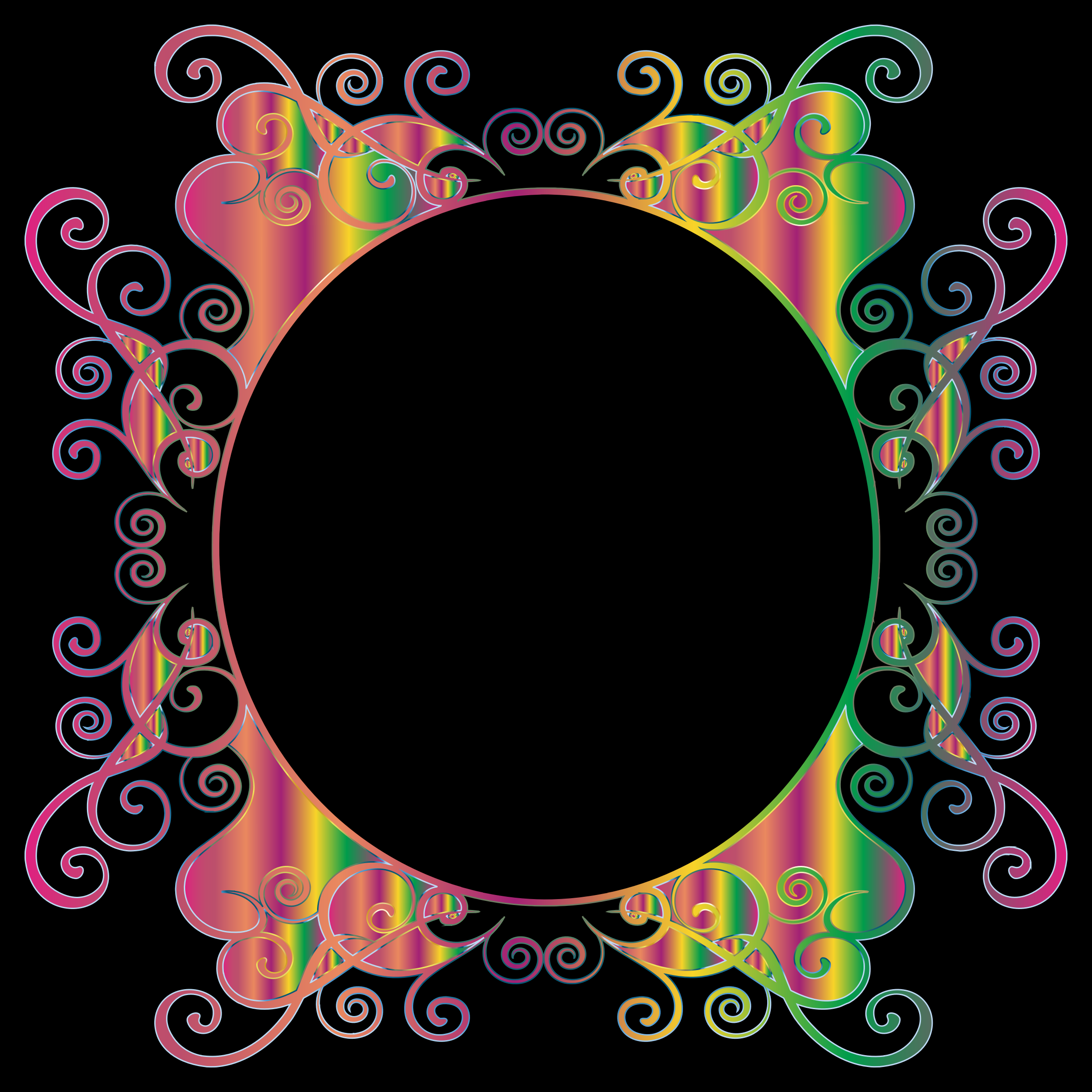 Prismatic Flourish Frame 3 by GDJ