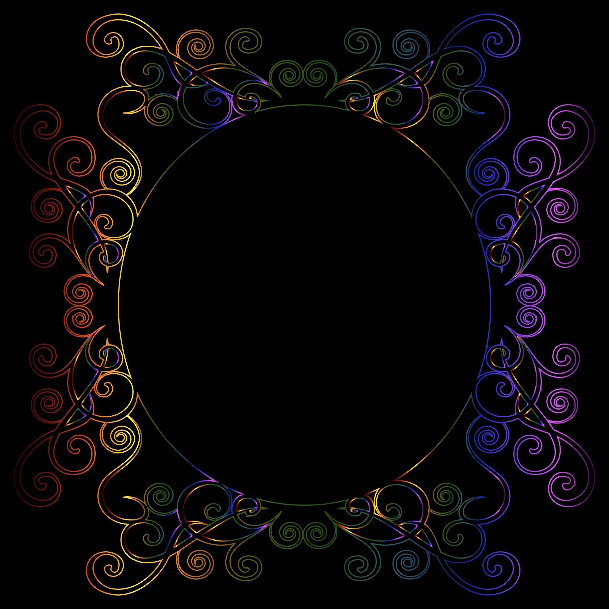 Prismatic Flourish Frame 7 by GDJ