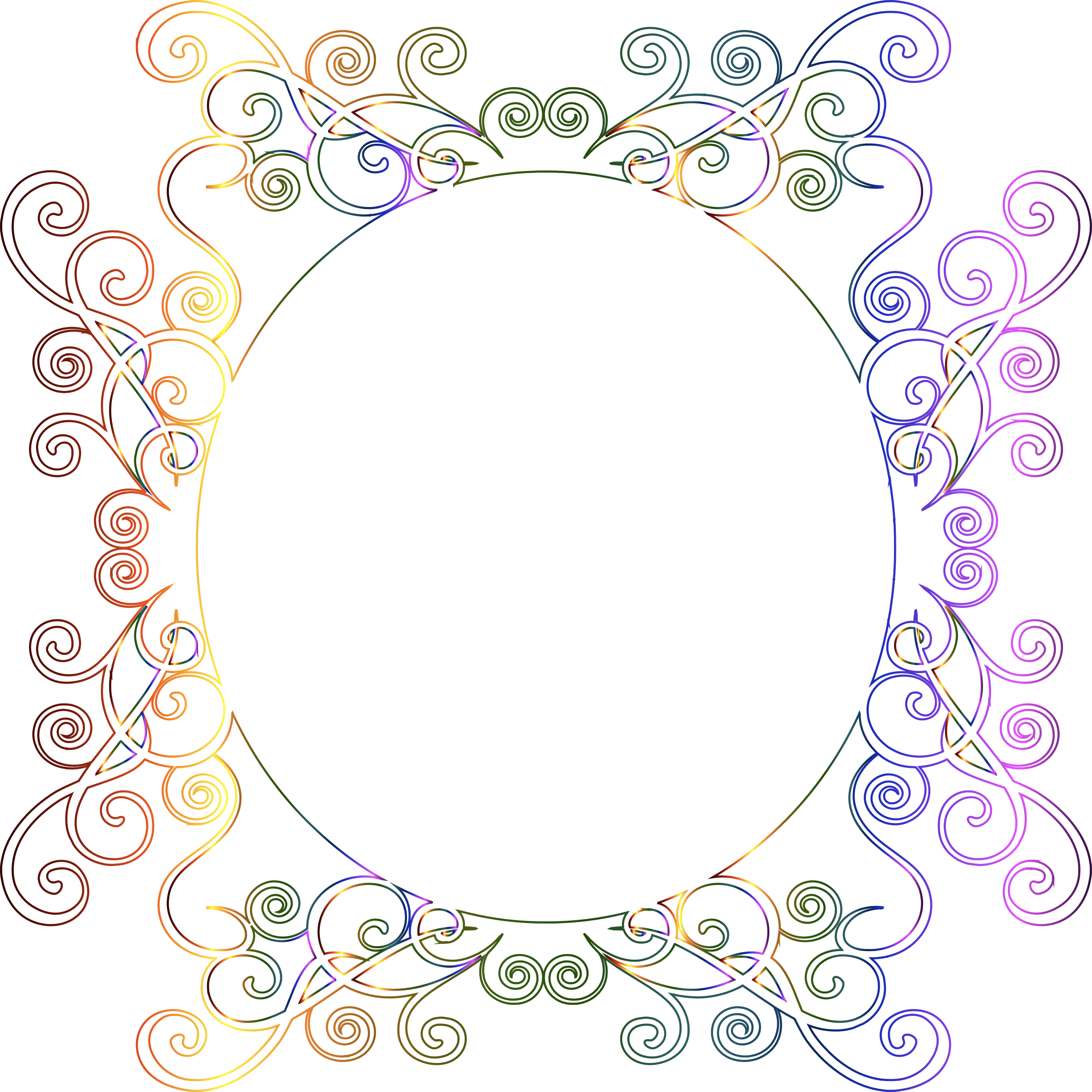 Prismatic Flourish Frame 7 No Background by GDJ