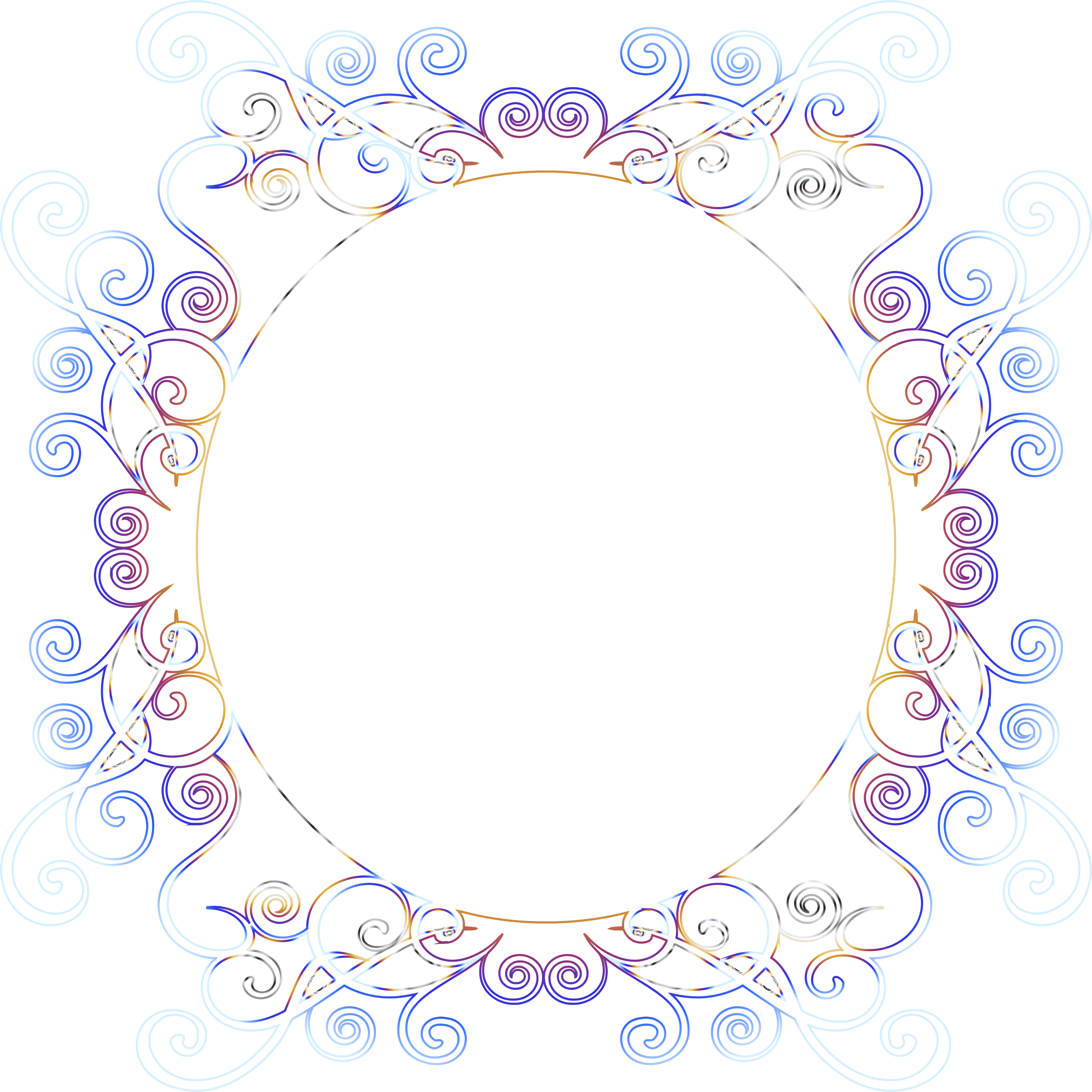 Prismatic Flourish Frame 8 No Background by GDJ