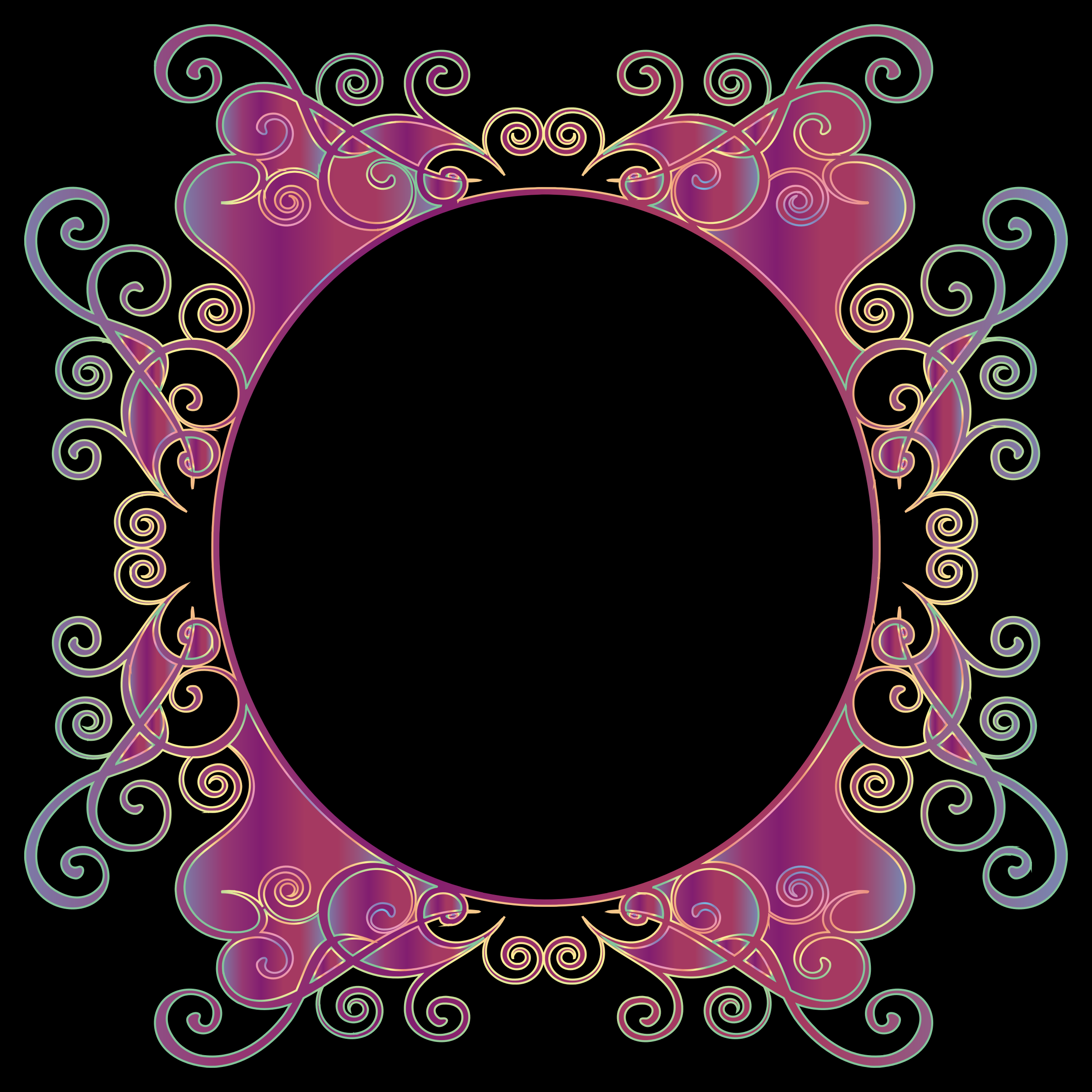 Prismatic Flourish Frame 10 by GDJ
