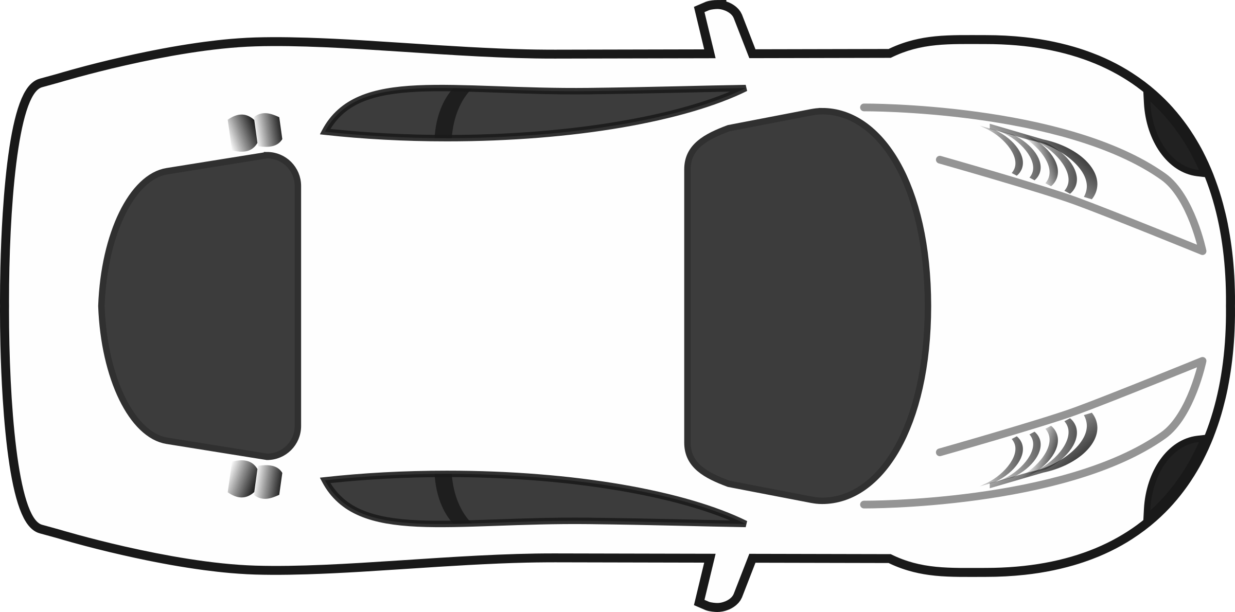 White blank racing car top view by qubodup