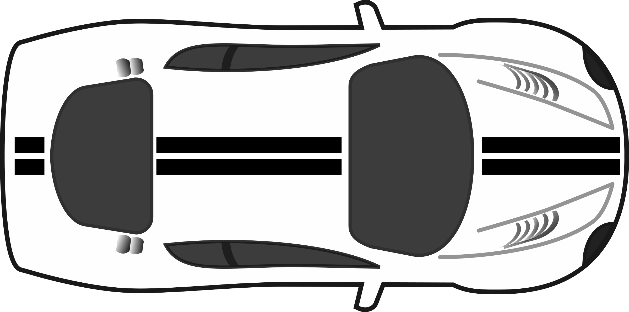Clipart Racing Stripes Car Top View