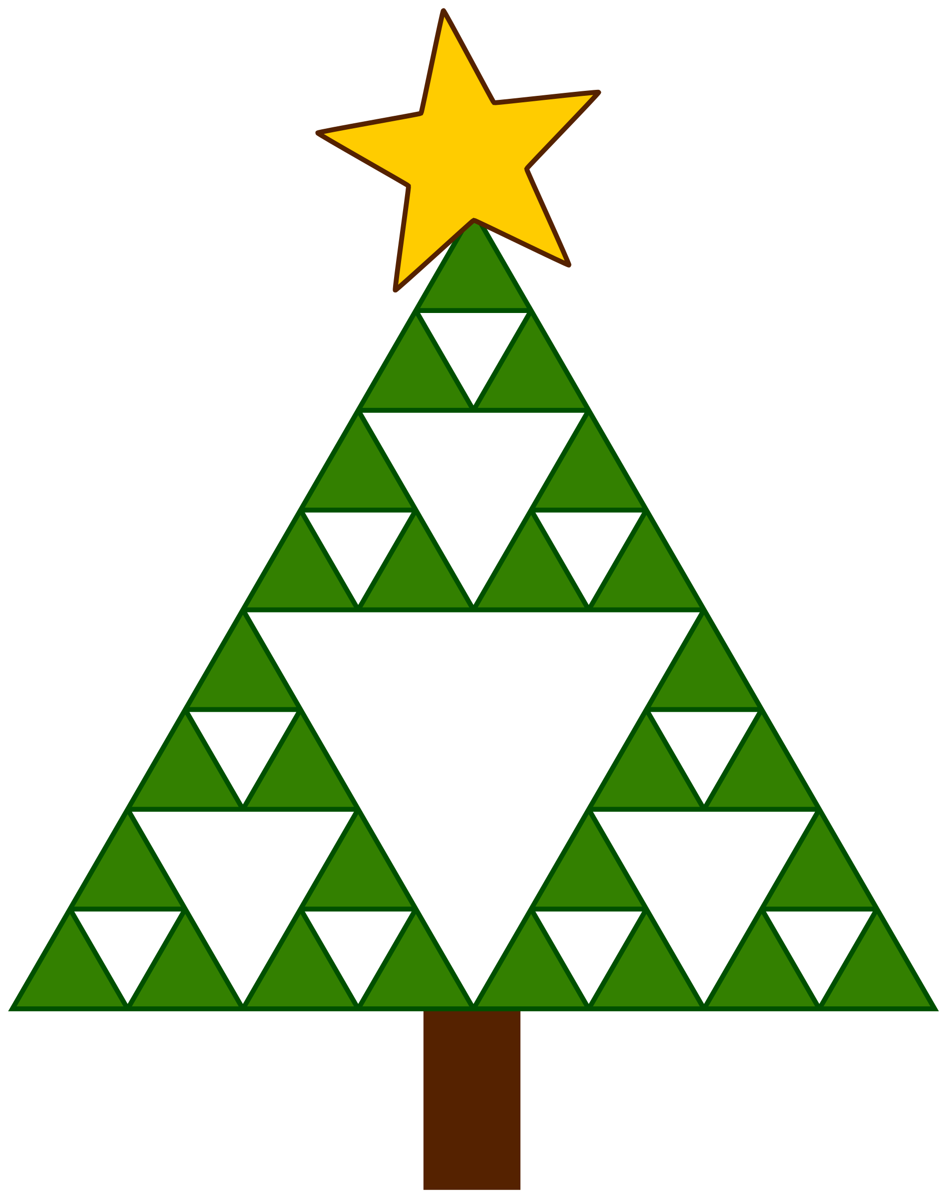 Sierpinski Xmas Tree by pitr