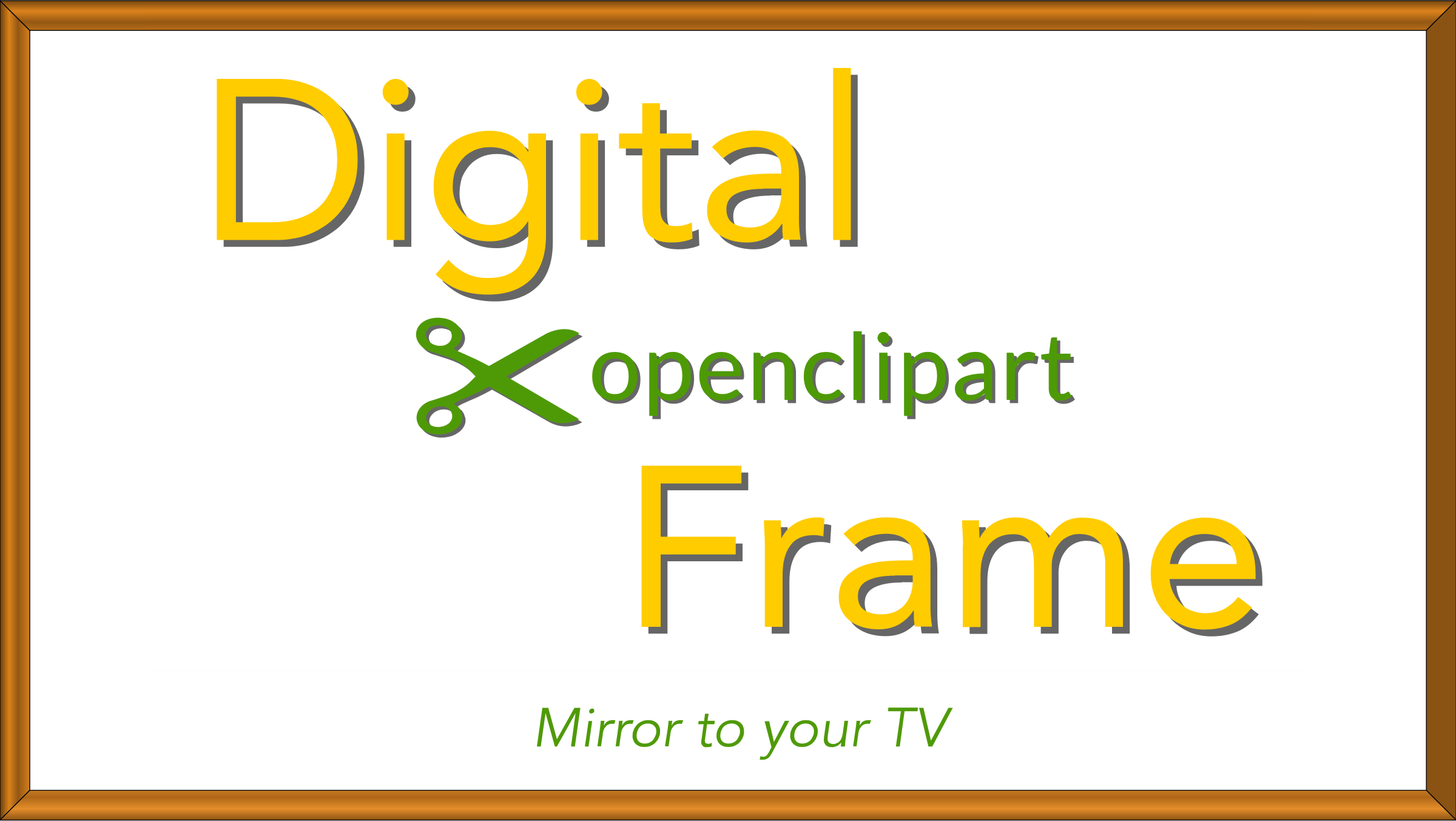 Digital OpenClipArt Frame 3 by JayNick