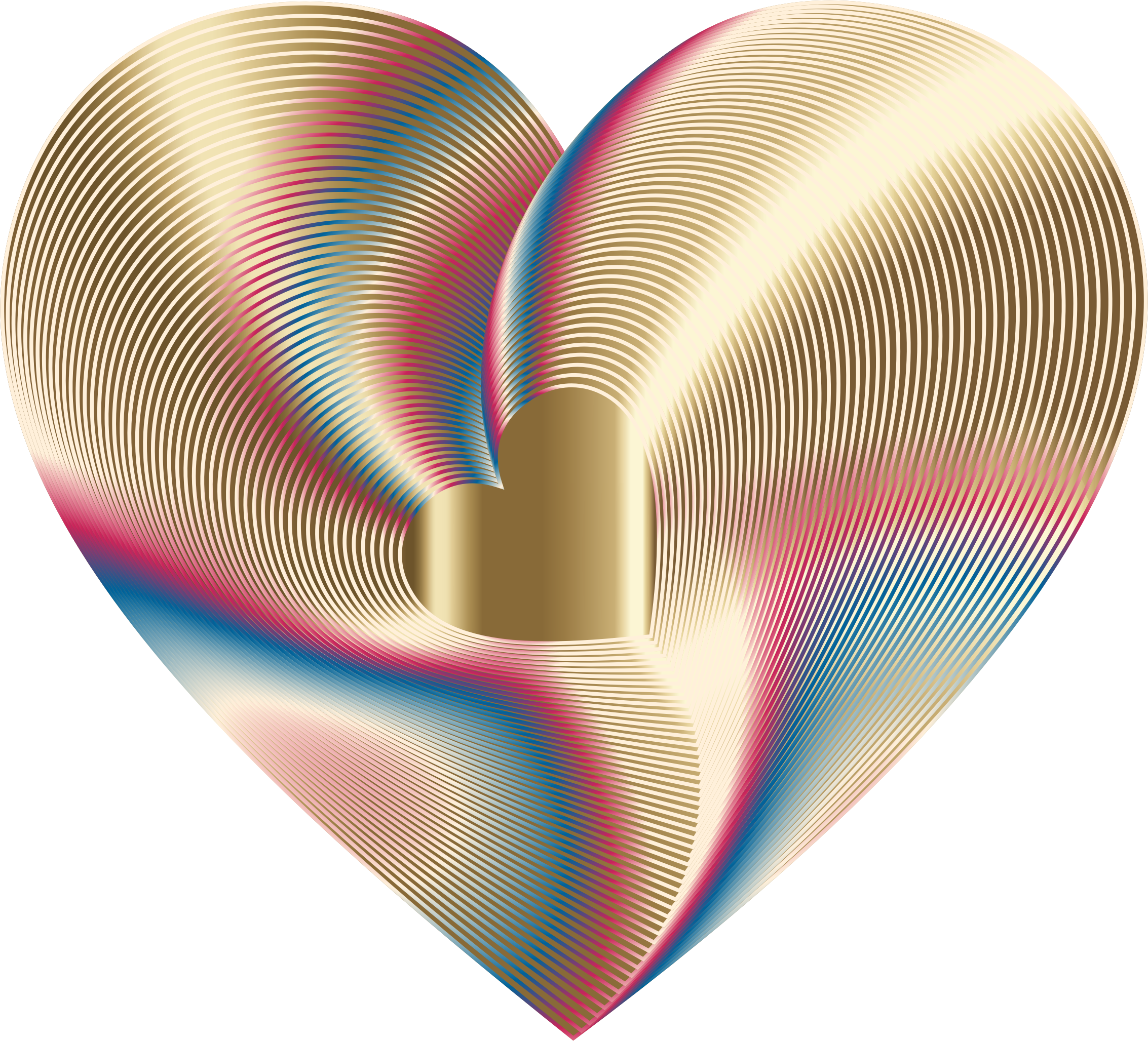 Clipart - Golden Heart Of The Rainbow 9