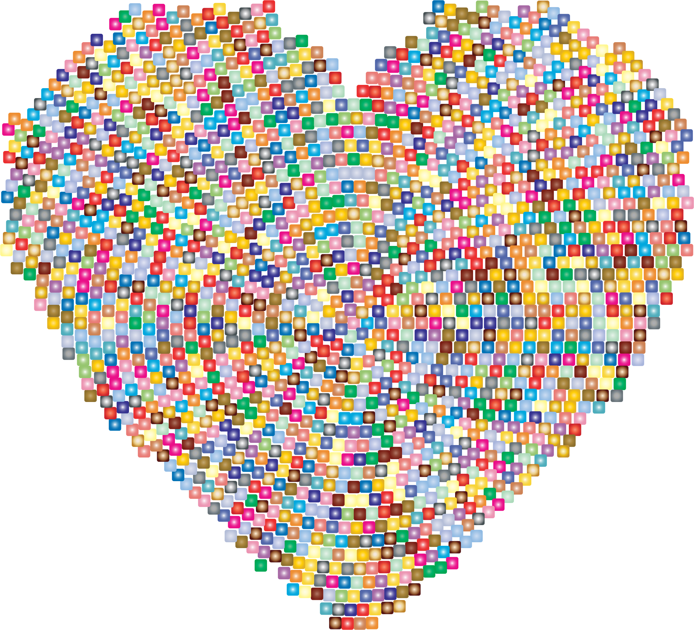 Colorful Mosaic Heart by GDJ