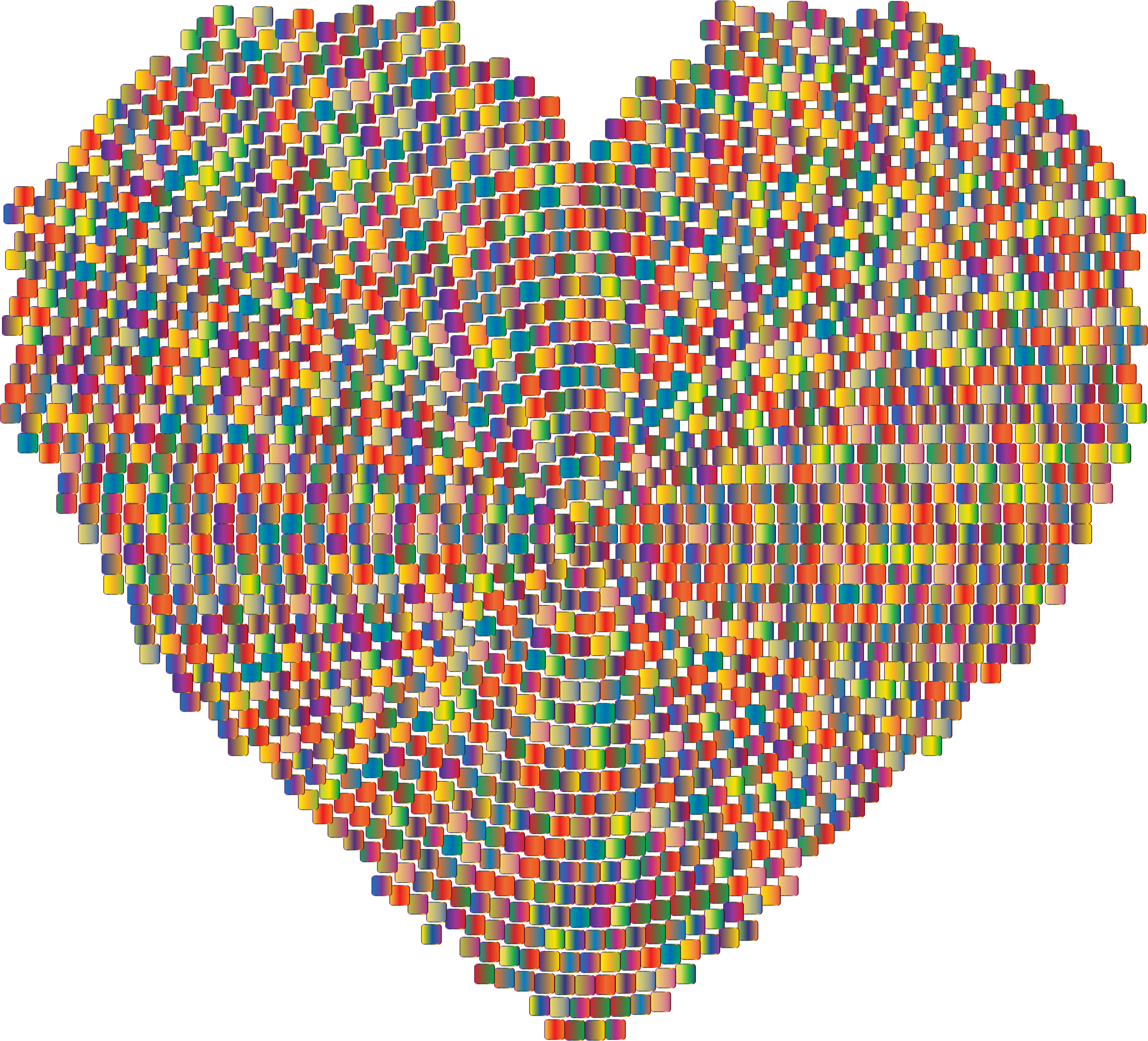 Colorful Mosaic Heart 2 by GDJ