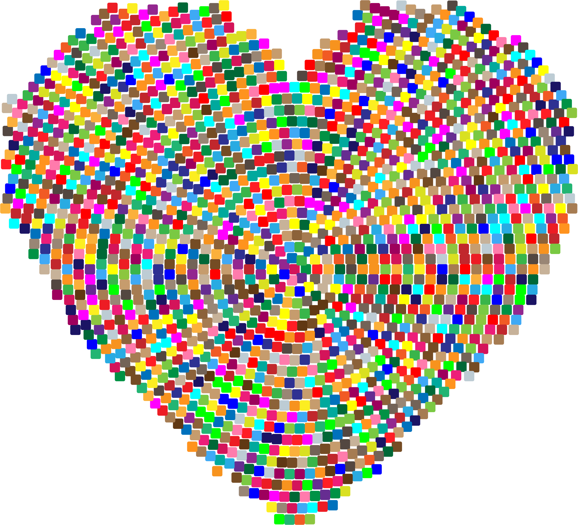 Colorful Mosaic Heart 3 by GDJ