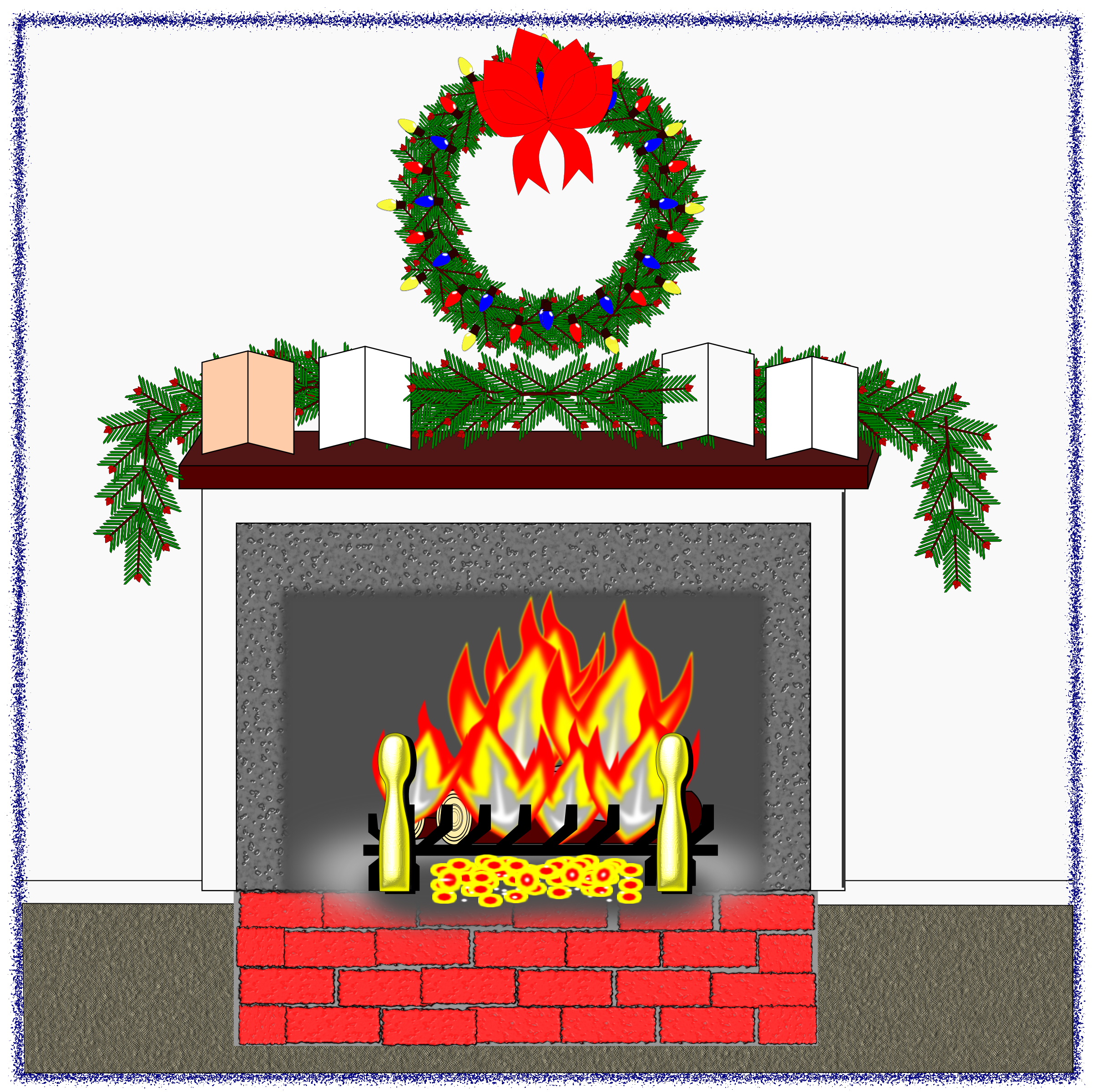 Christmas Hearth Fire by algotruneman