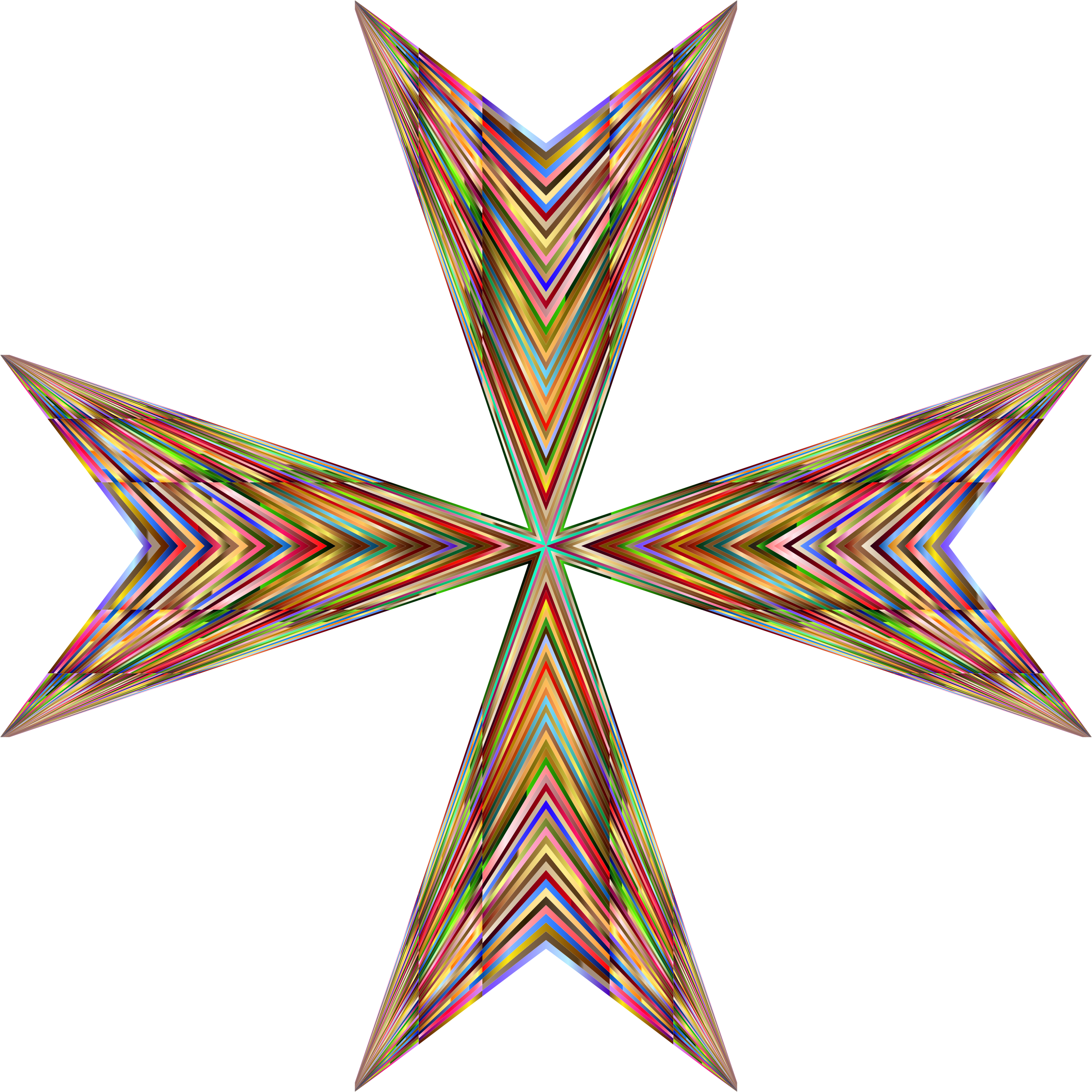 Vibrant Maltese Cross by GDJ