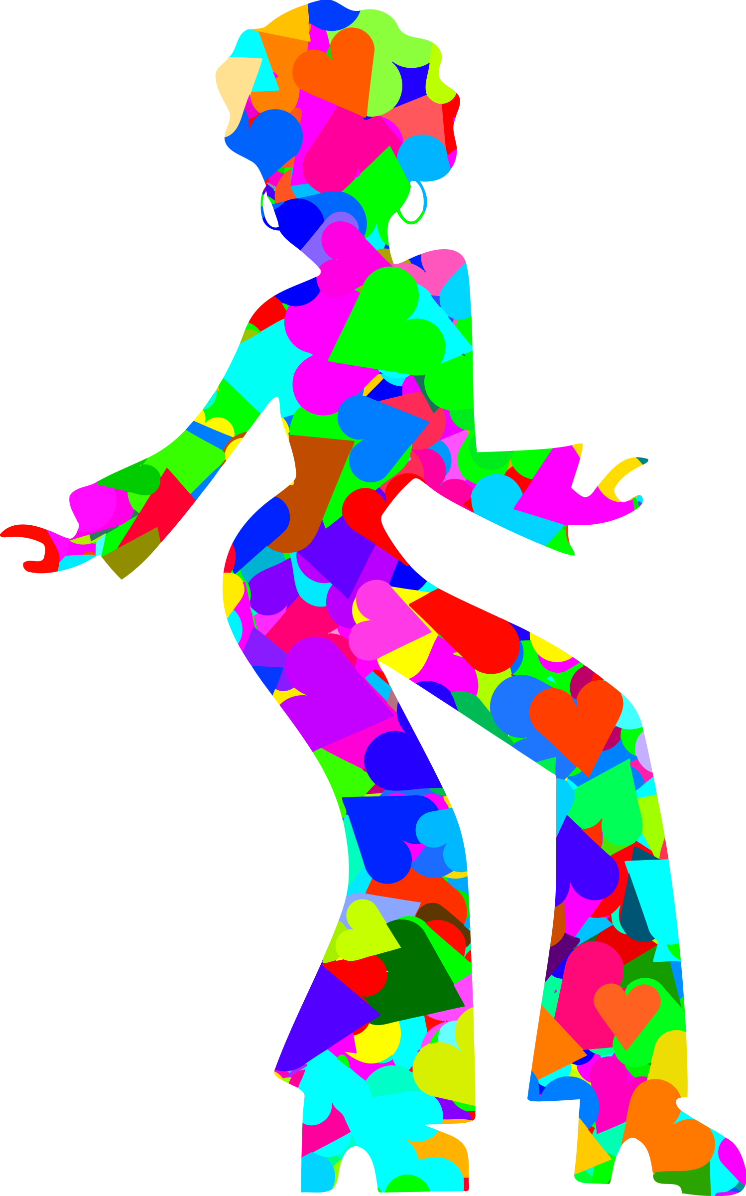 Colourful disco dancer 4 by Firkin