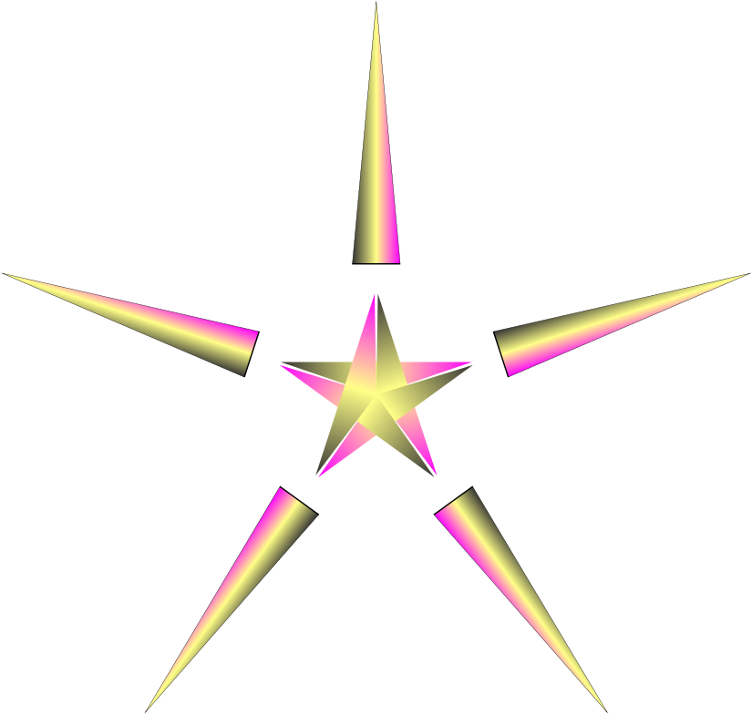 Christmas star with pulsing colors by genolve